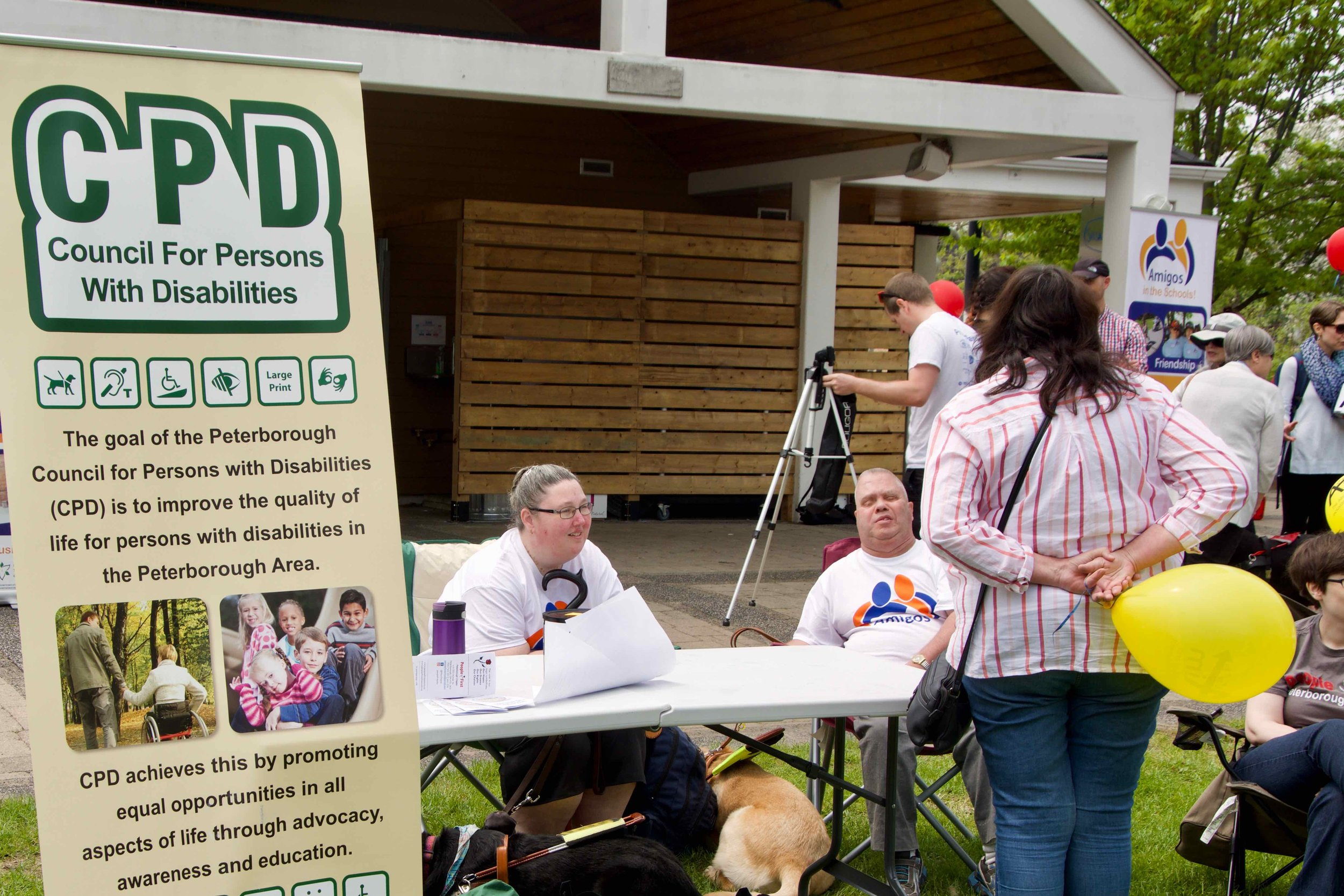 AIM Walk for Inclusion - Lynn & John at the CPD Table
