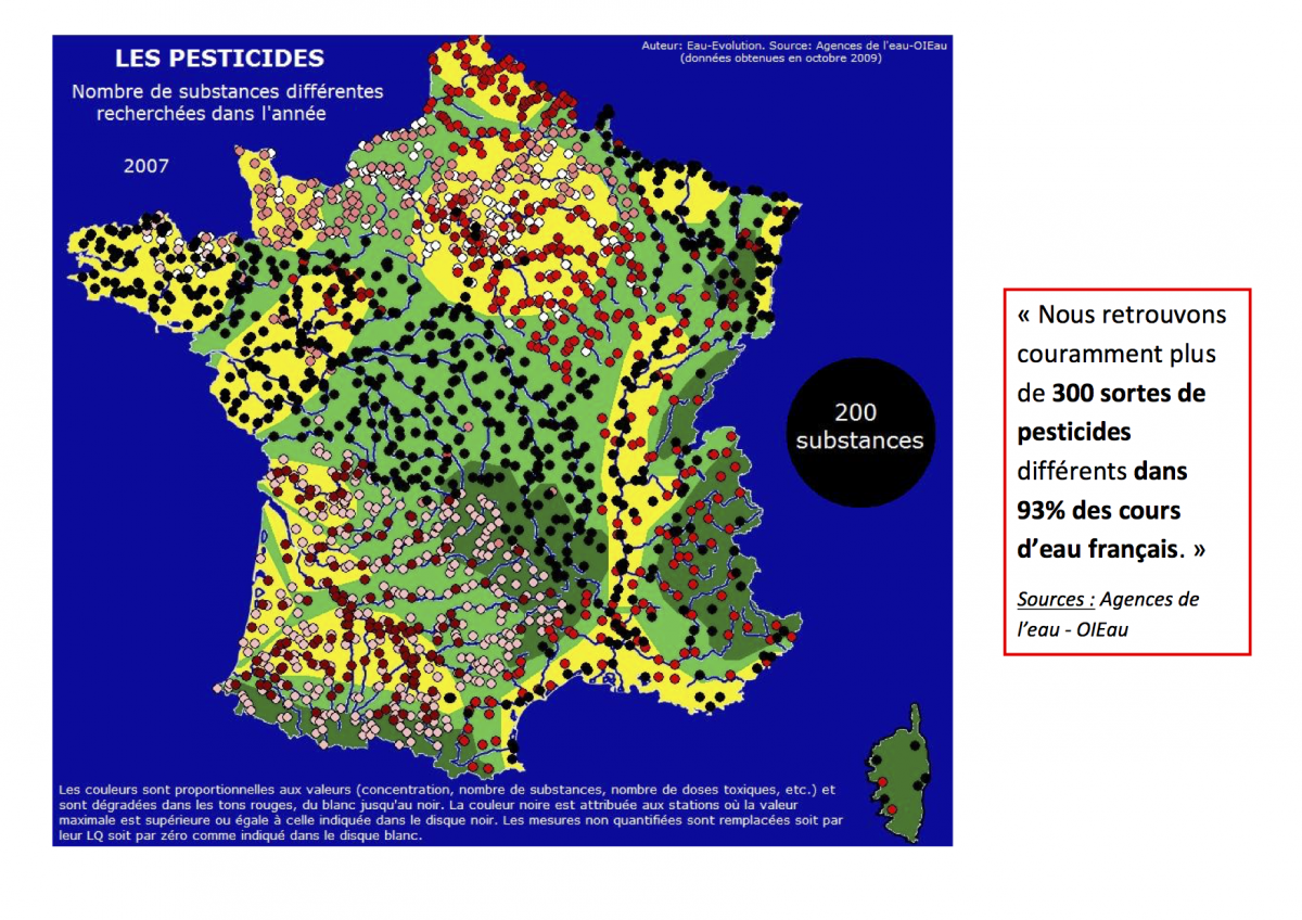 Amilo - Carte de France des Pesticides
