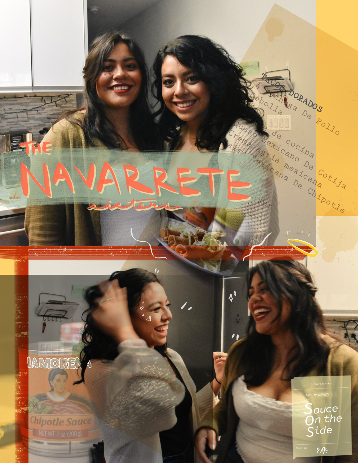 Sauce on the Side: the Navarrete sisters - Mexican American sister Andrea and Bernice Navarrete bring dishes to AKIN and memories of their mother making these dishes growing up and bringing them to their elementary school.