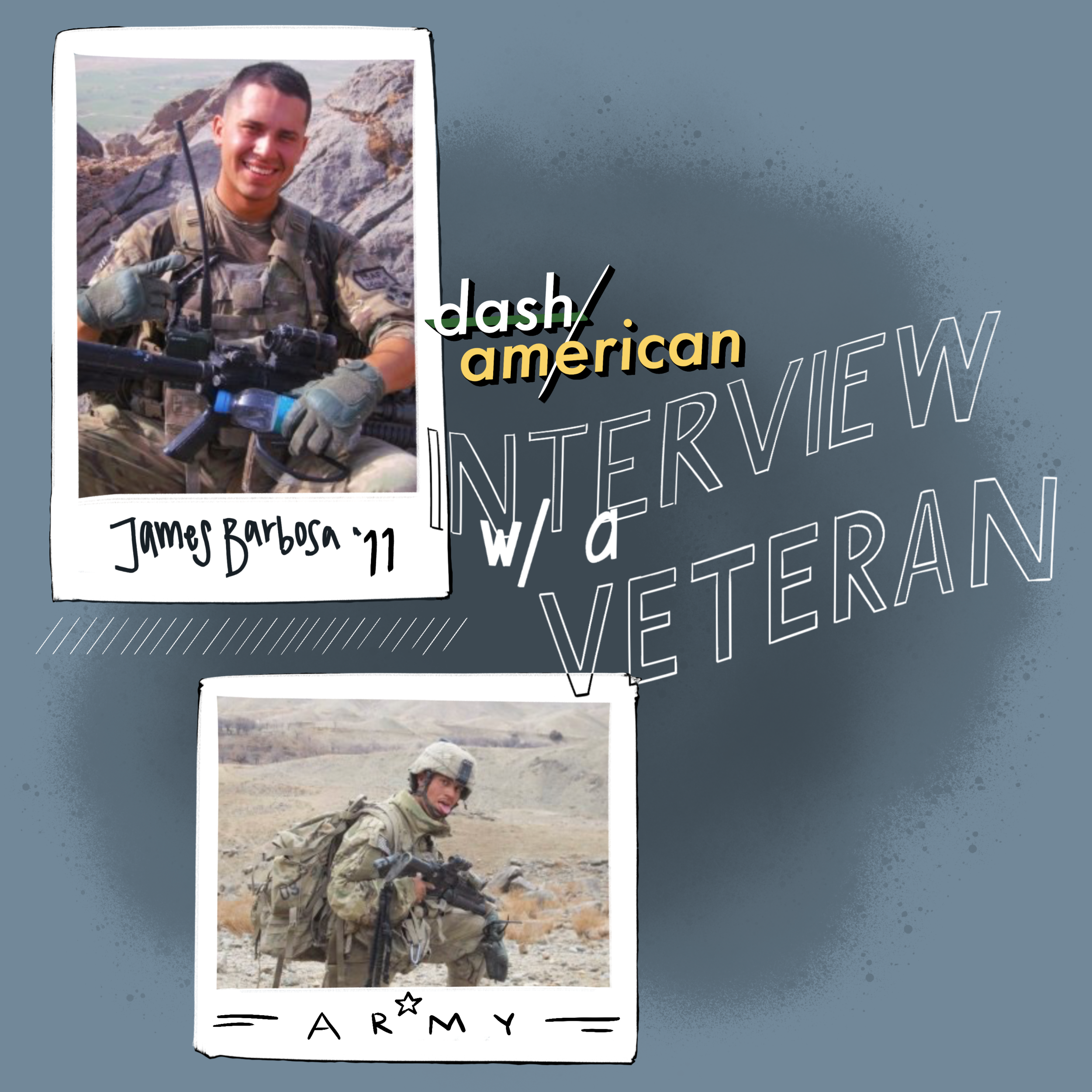 Dash/AmericanThe Veteran Podcast - Dash/American the Podcast with James Barbosa an Army Veteran shedding some light on the experience of being POC in the military; before, during, and after serving.