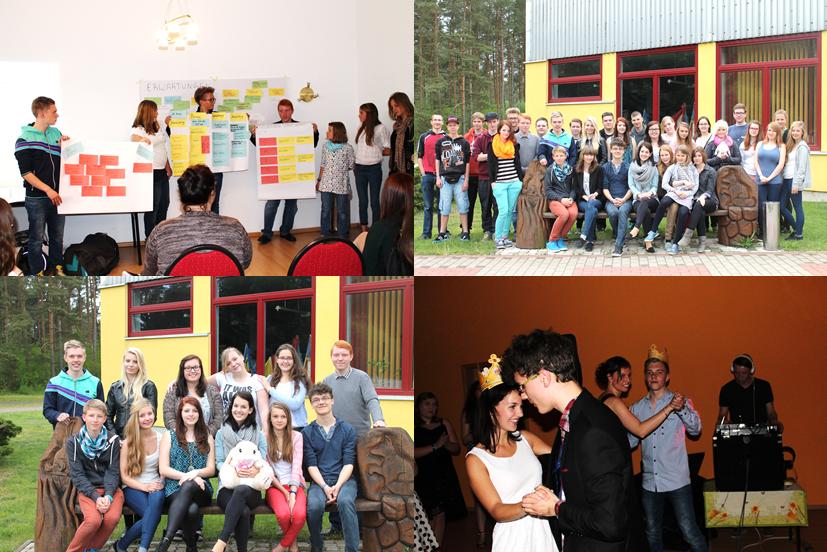 Im Evita Forum in Demen trafen sich die ca 35 Schüler aus dem Kreis und aus den verschiedensten Schularten um am ersten Tag in Workshops zu Themen wie Projektmanagement, Schulgesetz und Öffentlichkeitsarbeit zu arbeiten.