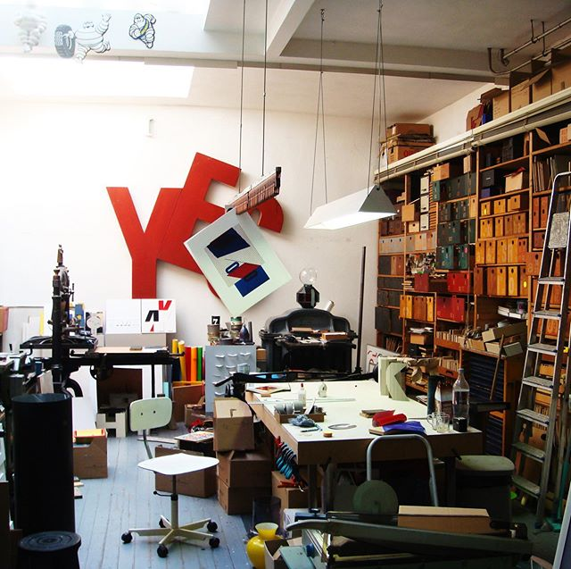 #tbt A very special place myself and @wwywork had the joy to work from. Artist studio, gallery and community hub - Ewald's Typo Gallery, Amsterdam. Sadly no longer alive with the sights and sounds of a truly creative and playful place. Not a Mac in sight. #typography