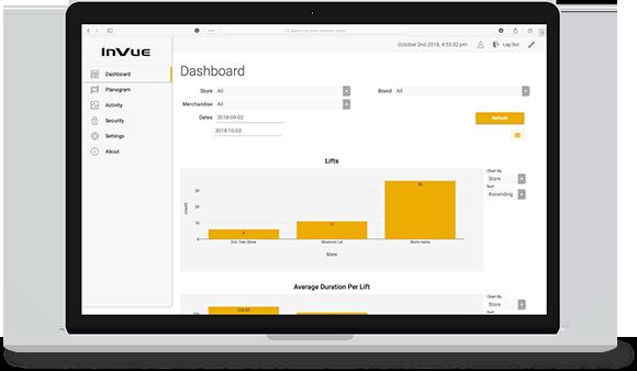 Insight® de InVue ayuda a las tiendas a monitorear interacciones con sus clientes y productos.