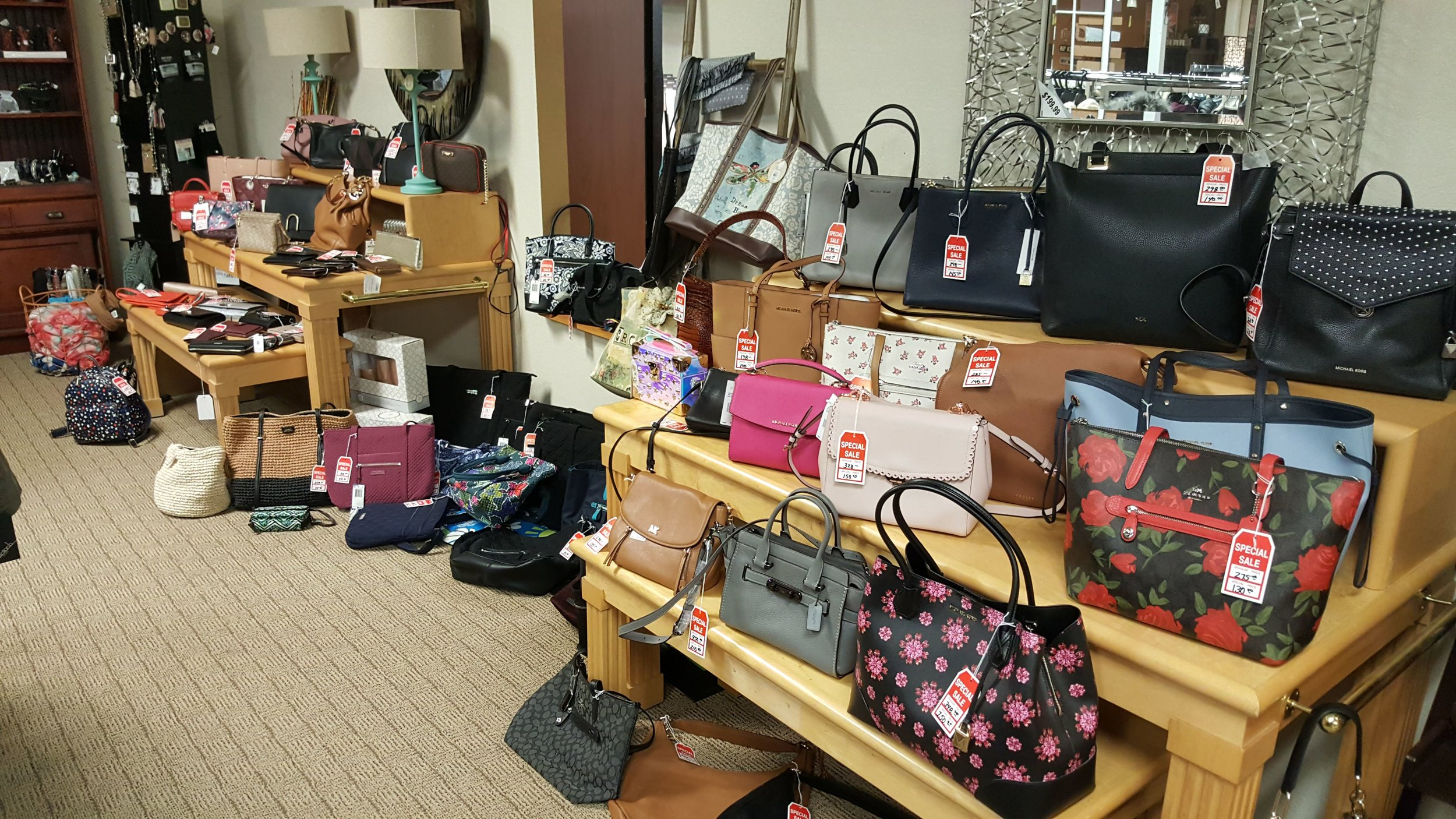 Purses from Macy's at great discounts. Mostly Michael Kors. All half off or more!