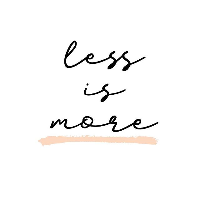 """""""Less is more."""" My motto in both life and design. Talk to me about it sometime. Easier said than done, right? #megrusselldesign"""