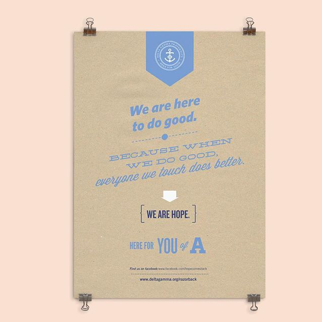 """Anchor poster, Delta Gamma—""""we are hope."""" #megrusselldesign"""