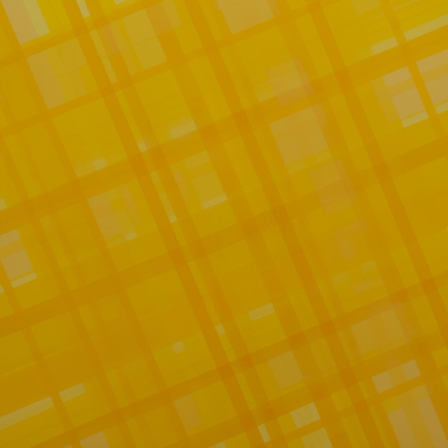 Yalla Balla, 2012, semi-transparent tape on panel, 18 x 18 inches