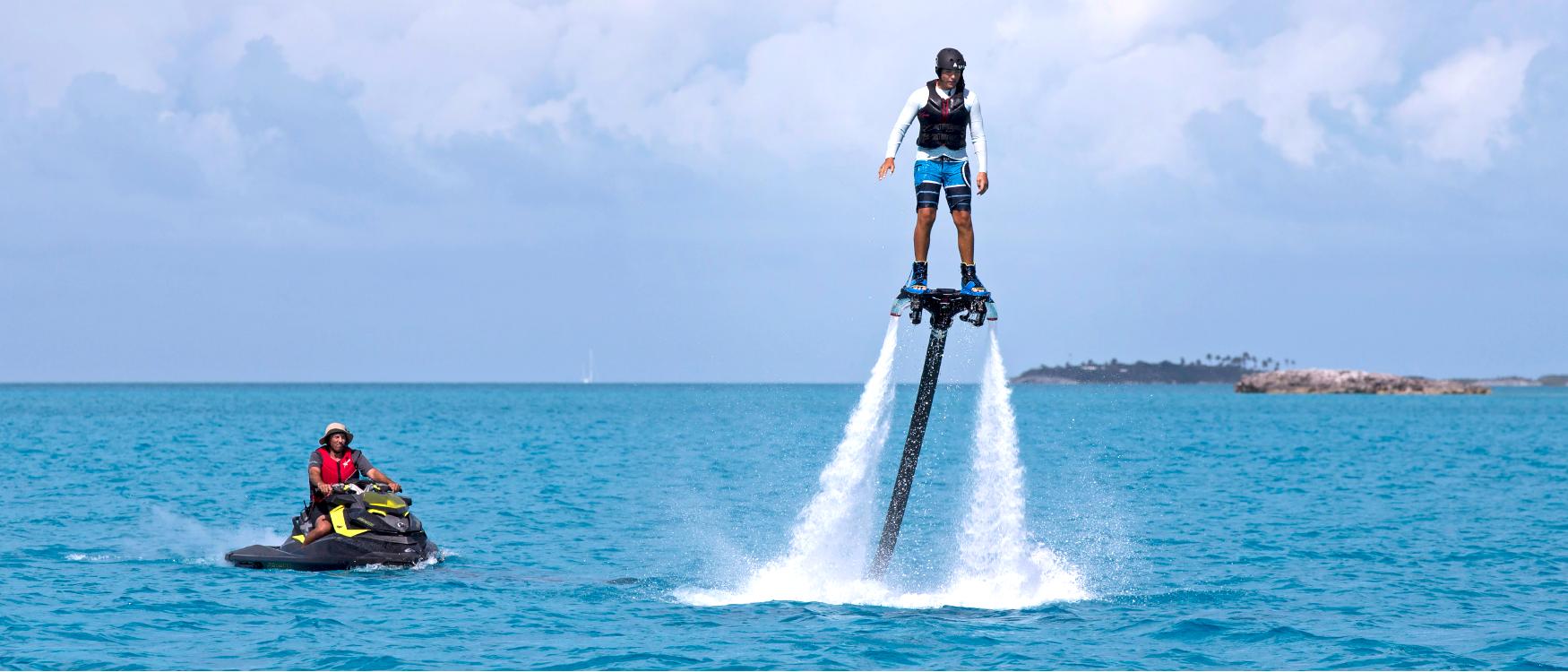 Yacht-Sweet-Escape-Flyboard-Hydroflyer-charter-bahamas