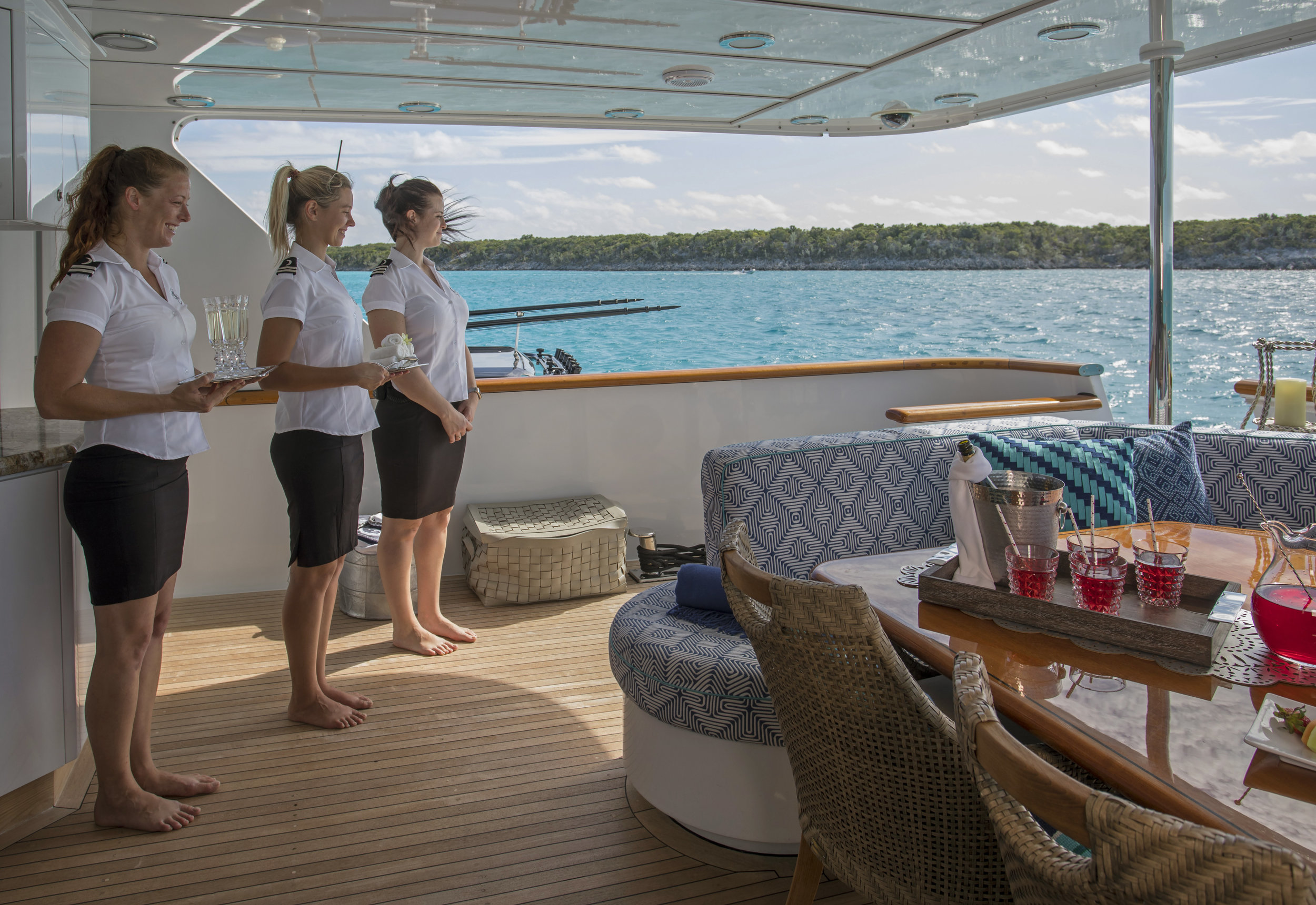 yacht-sweet-escape-crew-teak-welcome-luxury