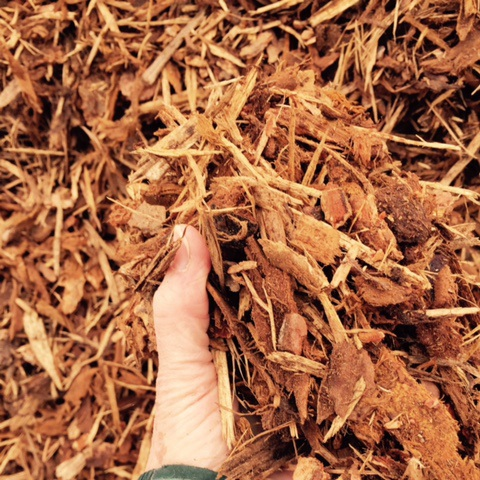 Large Shredded Bark   MT blend of Pine, Fir & Cedar; good for all locations, especially slopes and high wind areas.
