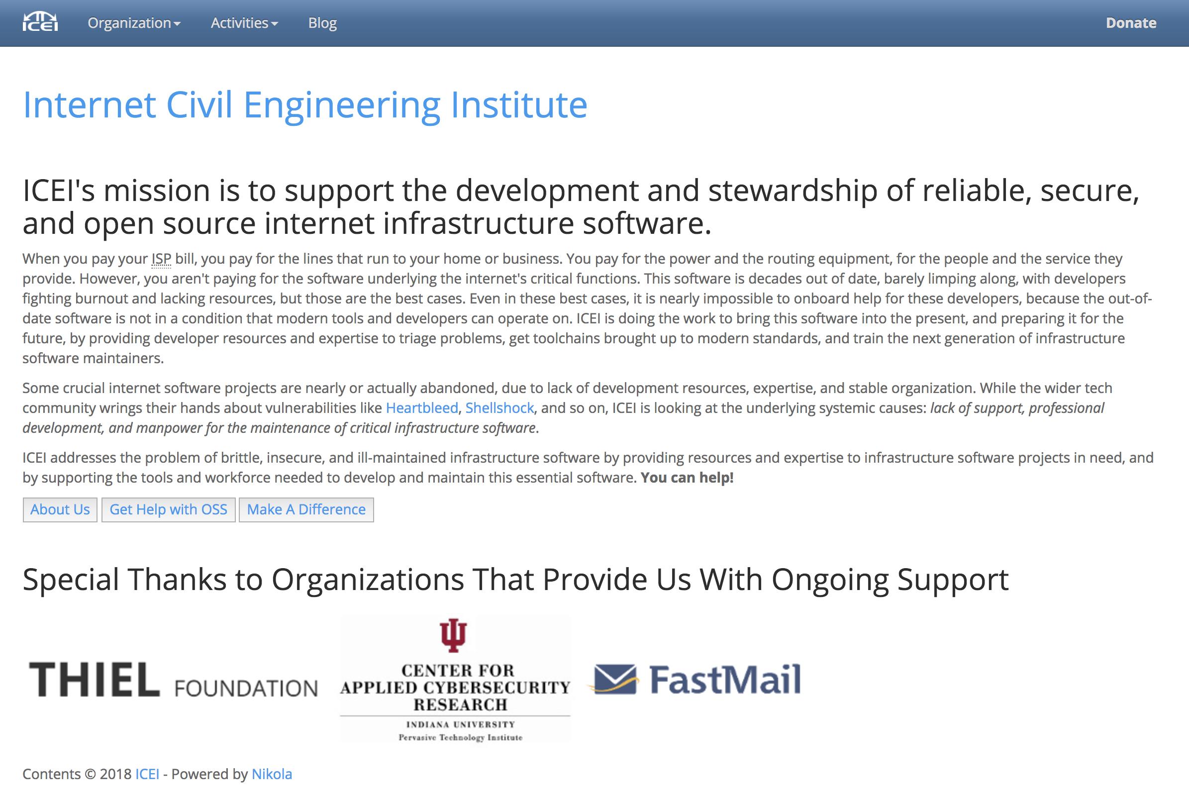 Internet Civil Engineering Institute - Founding Board Member