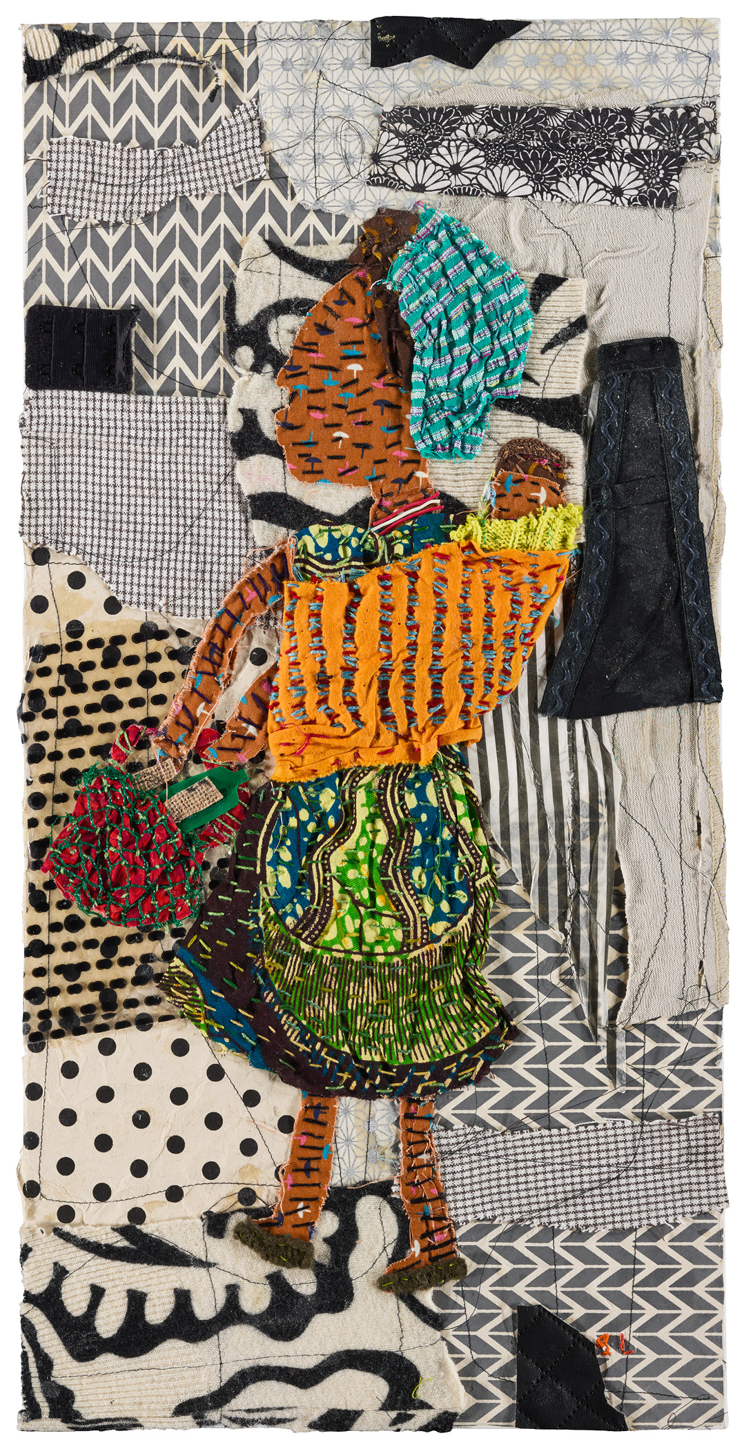 Traditional African Woman Collage -
