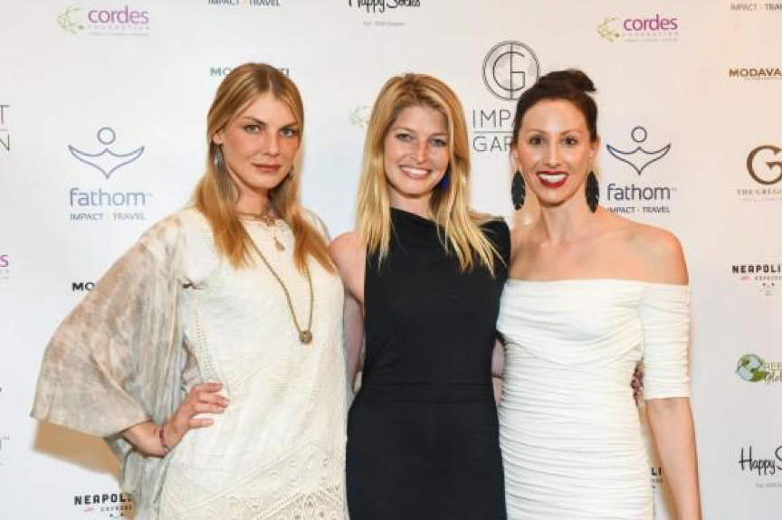 Angela Lindvall, me, and Julie Colombino at Impact Garden in New York City