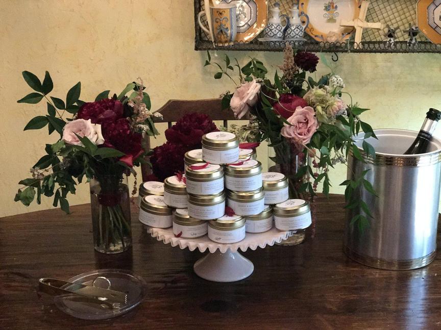 Our custom wedding candles