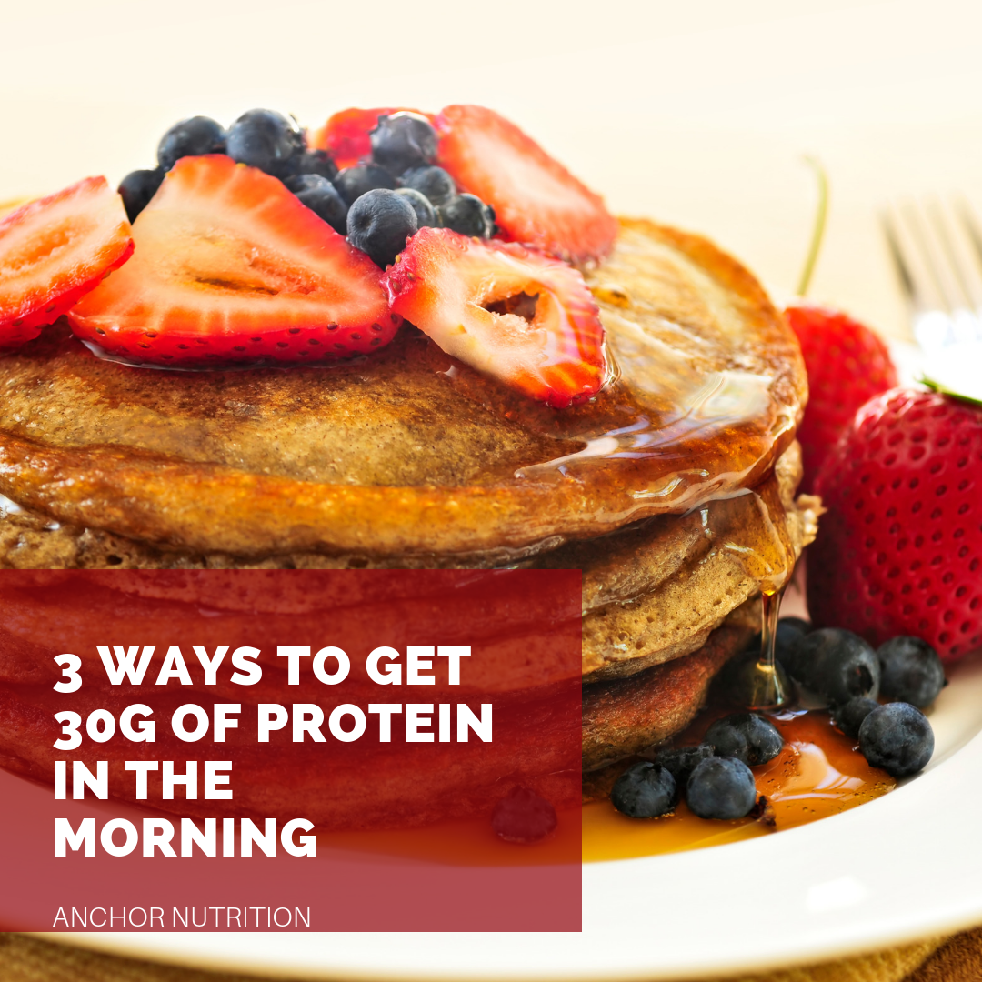 3 WAYS TO GET 30G OF PROTEIN IN THE MORNING -