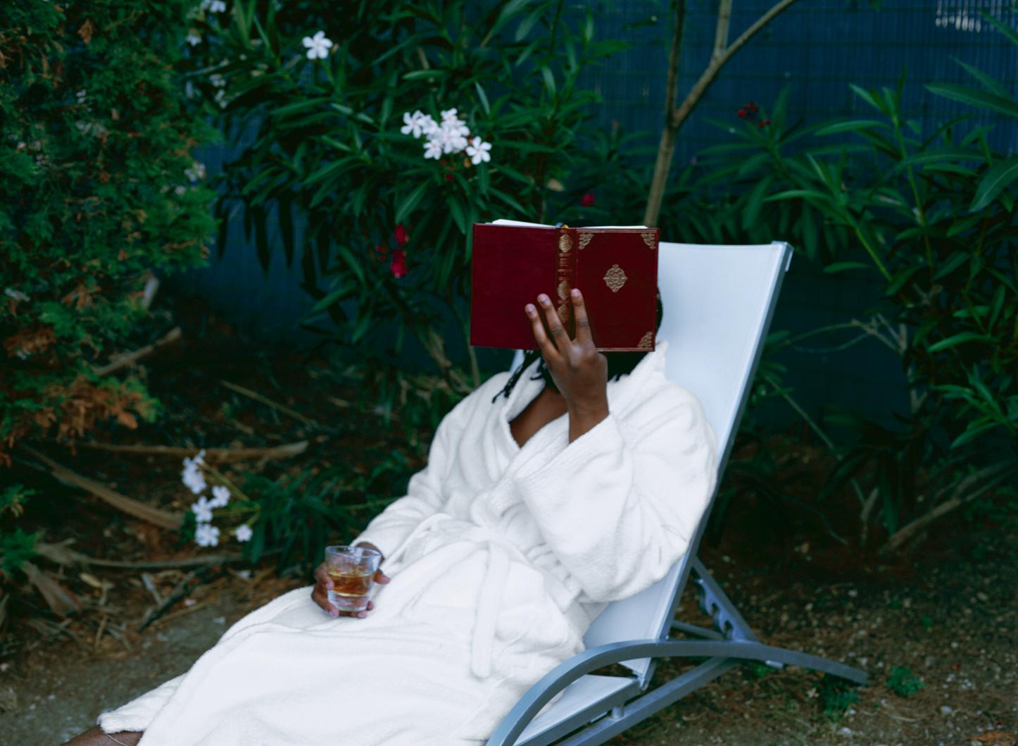 Rashid Johnson,  The Reader , 2008, Lambda print.© Rashid Johnson