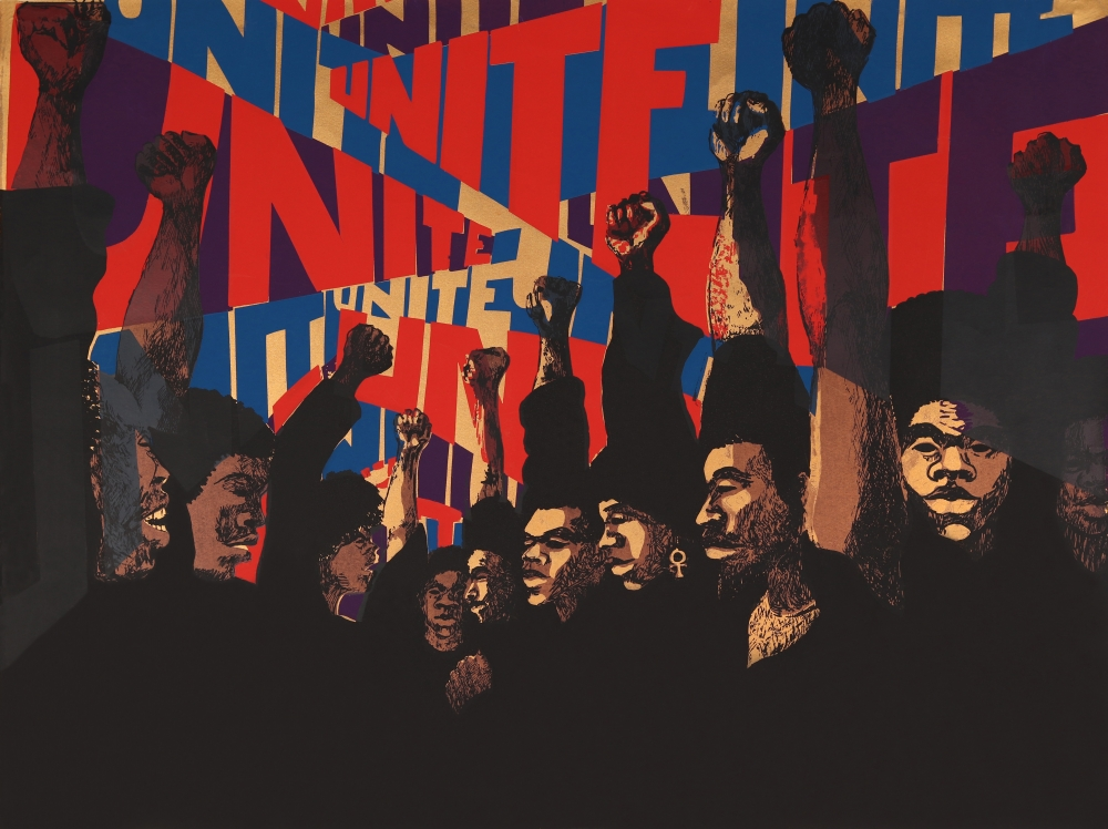 Image Credit: Barbara Jones-Hogu,  Unite (First State) , 1971. Screenprint.
