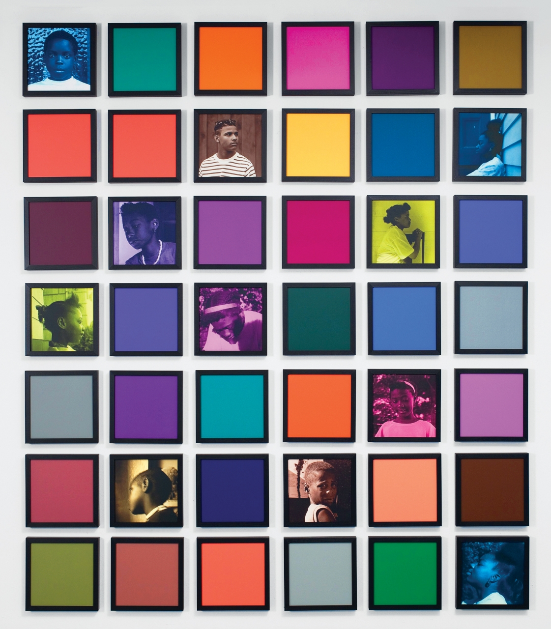Carrie Mae Weems, Blending the BluesCurated by Bonnie RubensteinMay 1–July 27, Opening May 3, 6pm. CONTACT Gallery, 80 Spadina, Ste 205Carrie Mae Weems, HeaveCurated by Bonnie RubensteinMay 4–July 27, Opening May 4, 6pm. Art Museum at UofT–Justina M. Barnicke Gallery, Hart House CircleCarrie Mae Weems' Public Installations include:Anointed, April 18–September 6. 460 King St WSlow Fade to Black, April 26–June 4. Metro Hall, King St W at John StScenes and Take, May 1–31. TIFF Bell Lightbox, 350 King St W - image: Carrie Mae Weems, Untitled (Colored People Grid), 2009. Courtesy the artist and Jack Shainman Gallery, New York, NY