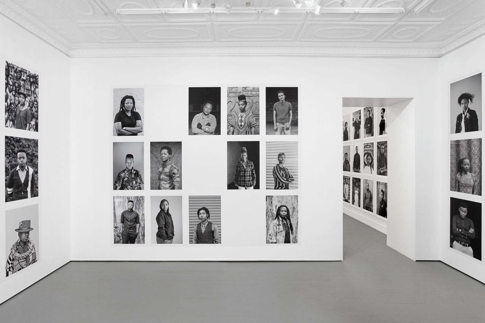 - Zanele Muholi, Faces and Phases 13 | STEVENSON, JohannesburgJuly 20 - August 30, 2019STEVENSON is proud to present Faces and Phases 13 by Zanele Muholi.Founded in 2006 in recognition of a lack of black queer visibility, Muholi's Faces and Phases series has grown into a living archive of black and white photographic portraits of more than 500 lesbians, gender-nonconforming individuals and transmen in various expressions of their sexuality and gender identity.image: installation view, Faces and Phases 13, STEVENSON