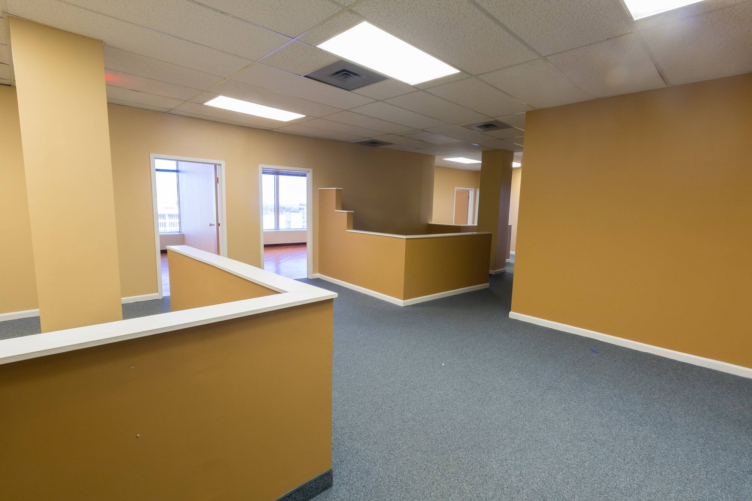 The CrossRoads Building has cubicles built out for your business.