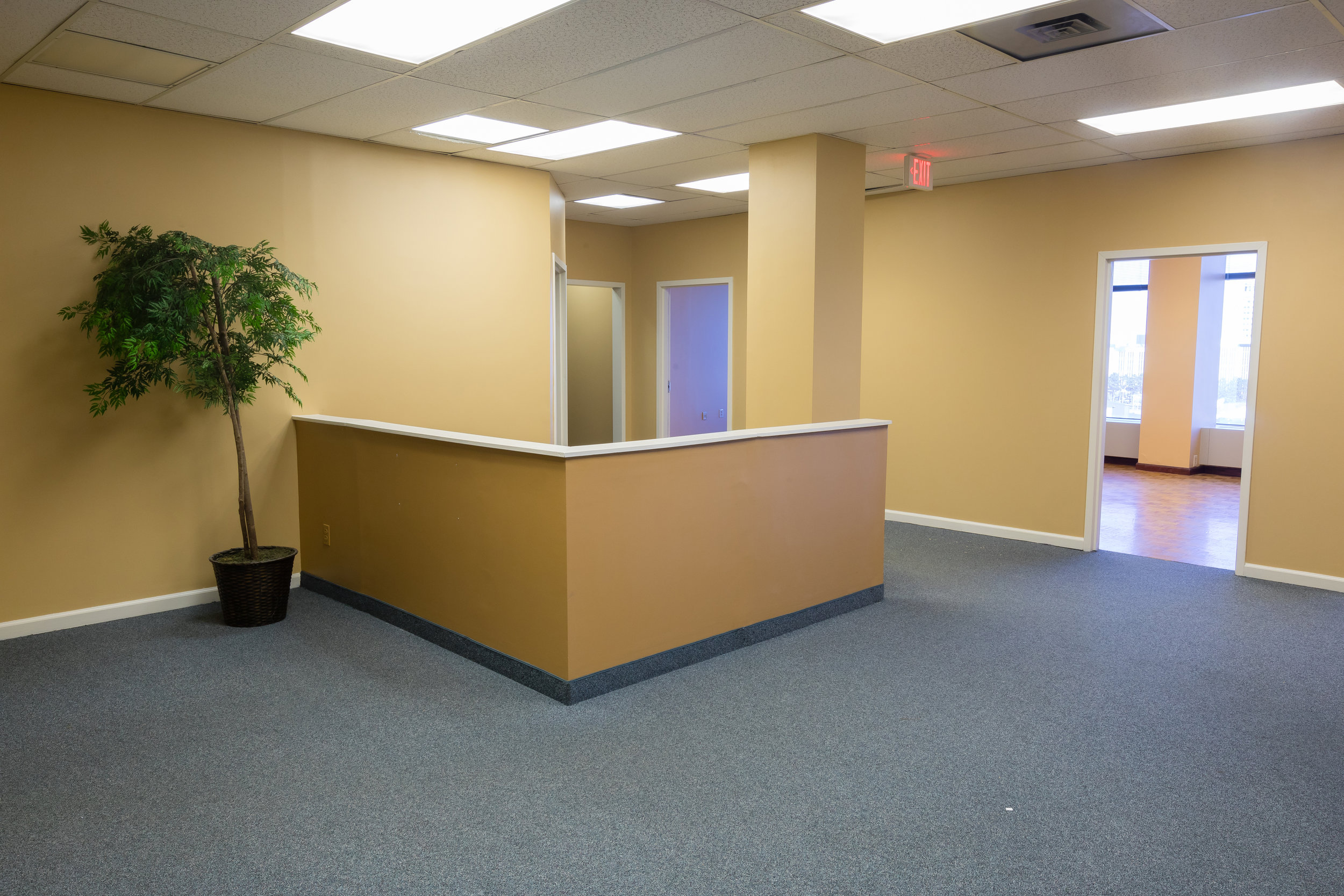 Cubicle office spaces in Rochester, New York.