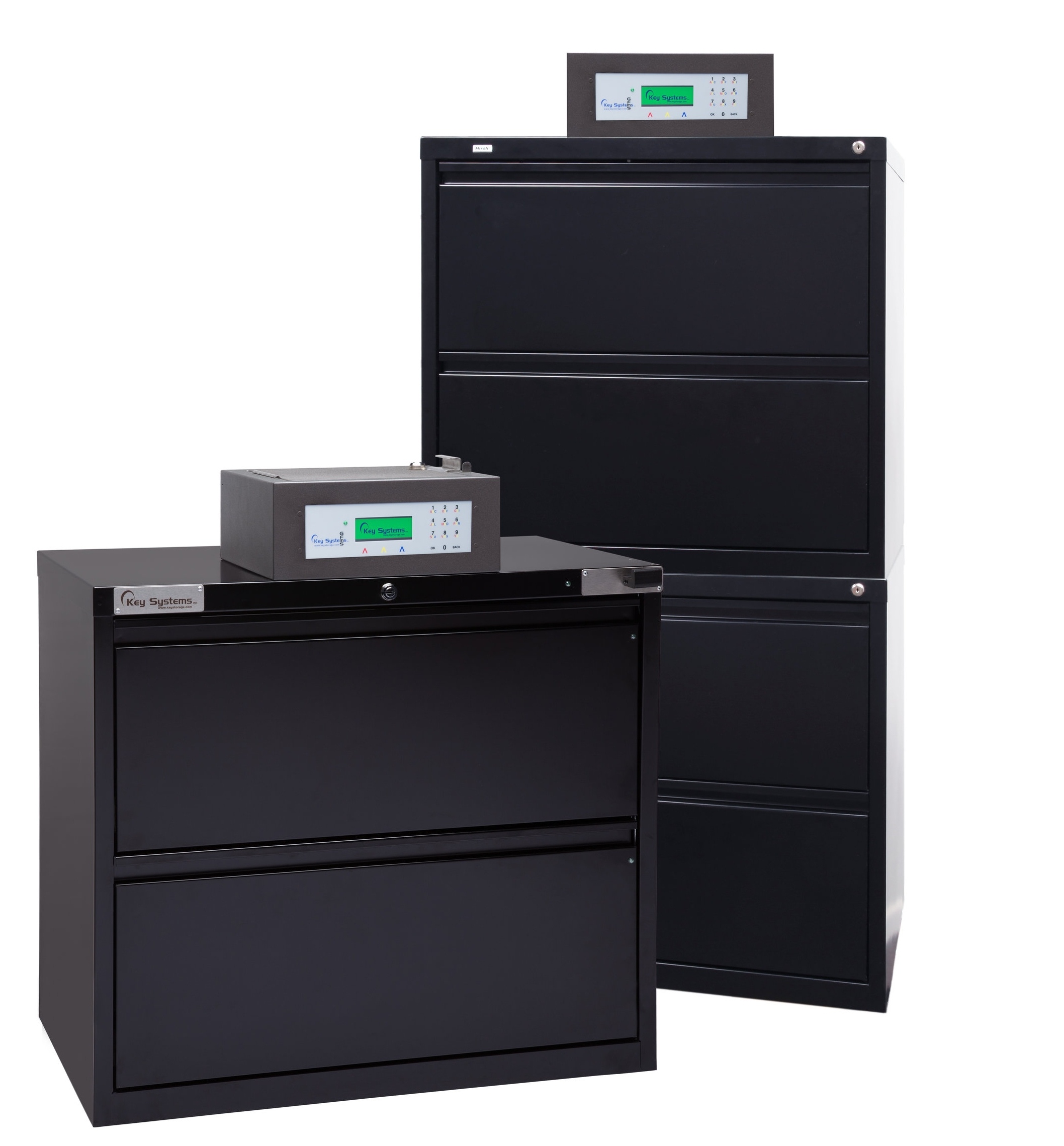 """2-DRAWER LATERAL FILE CABINETS: 4-DRAWER LATERAL FILE CABINETS:  Height: 28"""" Depth: 18.625"""" Height: 52.5"""" Depth: 18.625"""""""