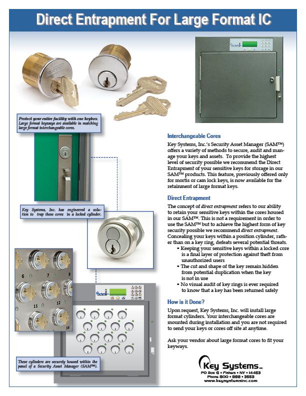 Direct Entrapment Large Format Interchangeable Cores PDF