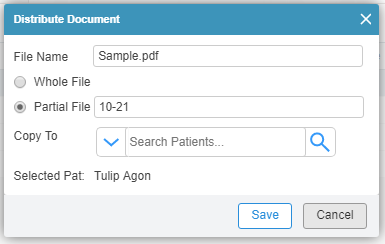 Send Selective Documents Securely to your Patients