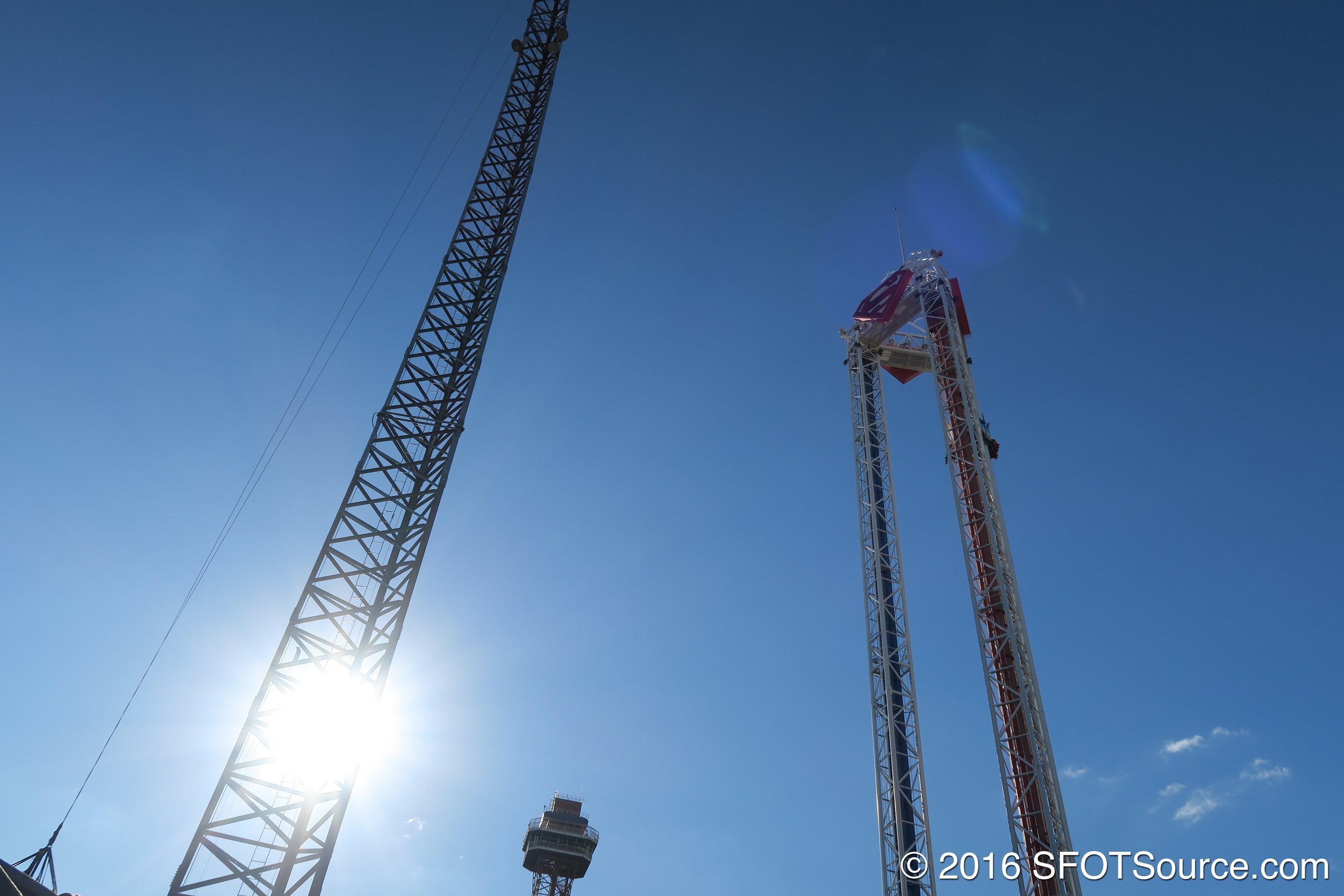 Tower is home to some of the park's taller attractions.