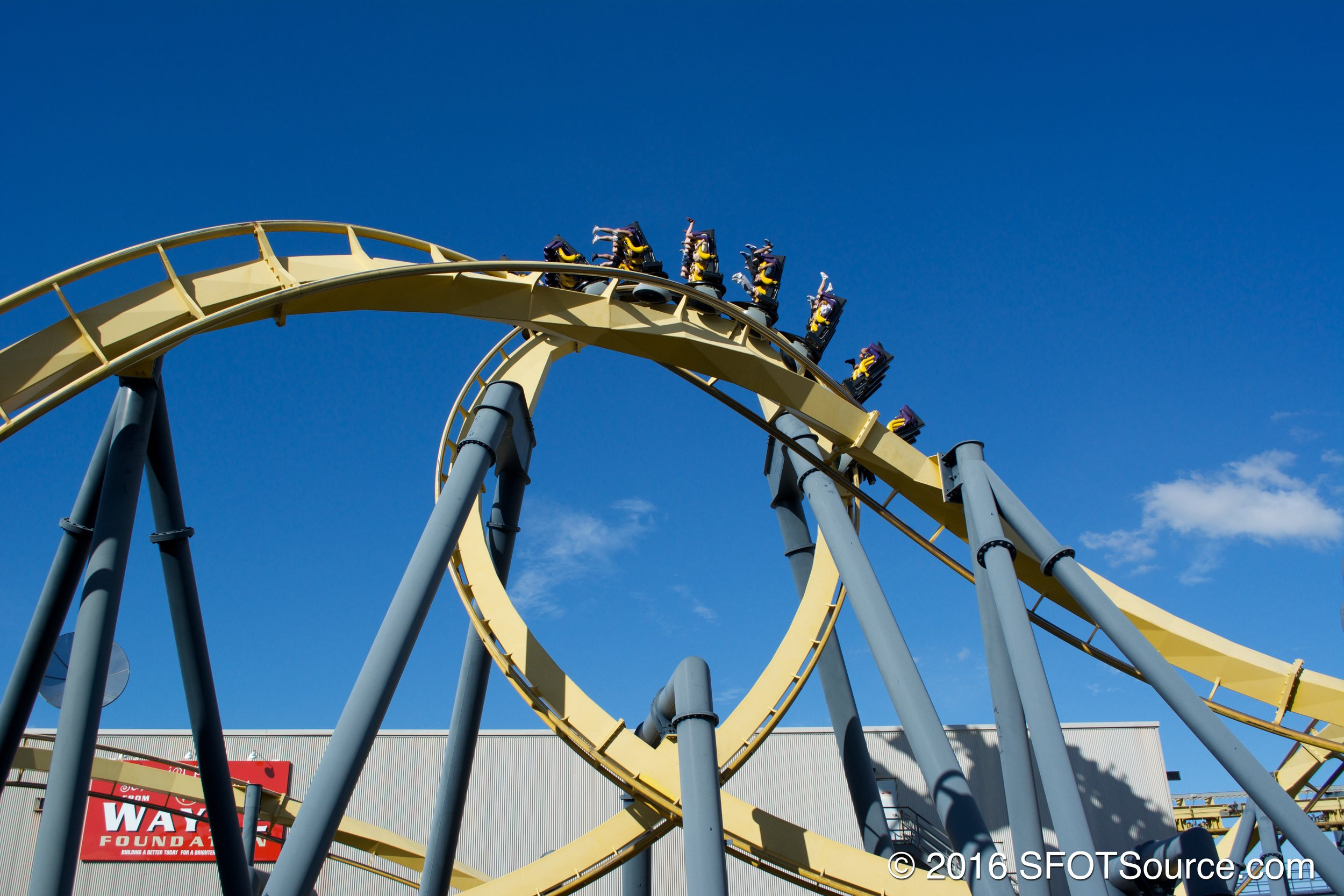 Batman: The Ride is an inverted coaster.