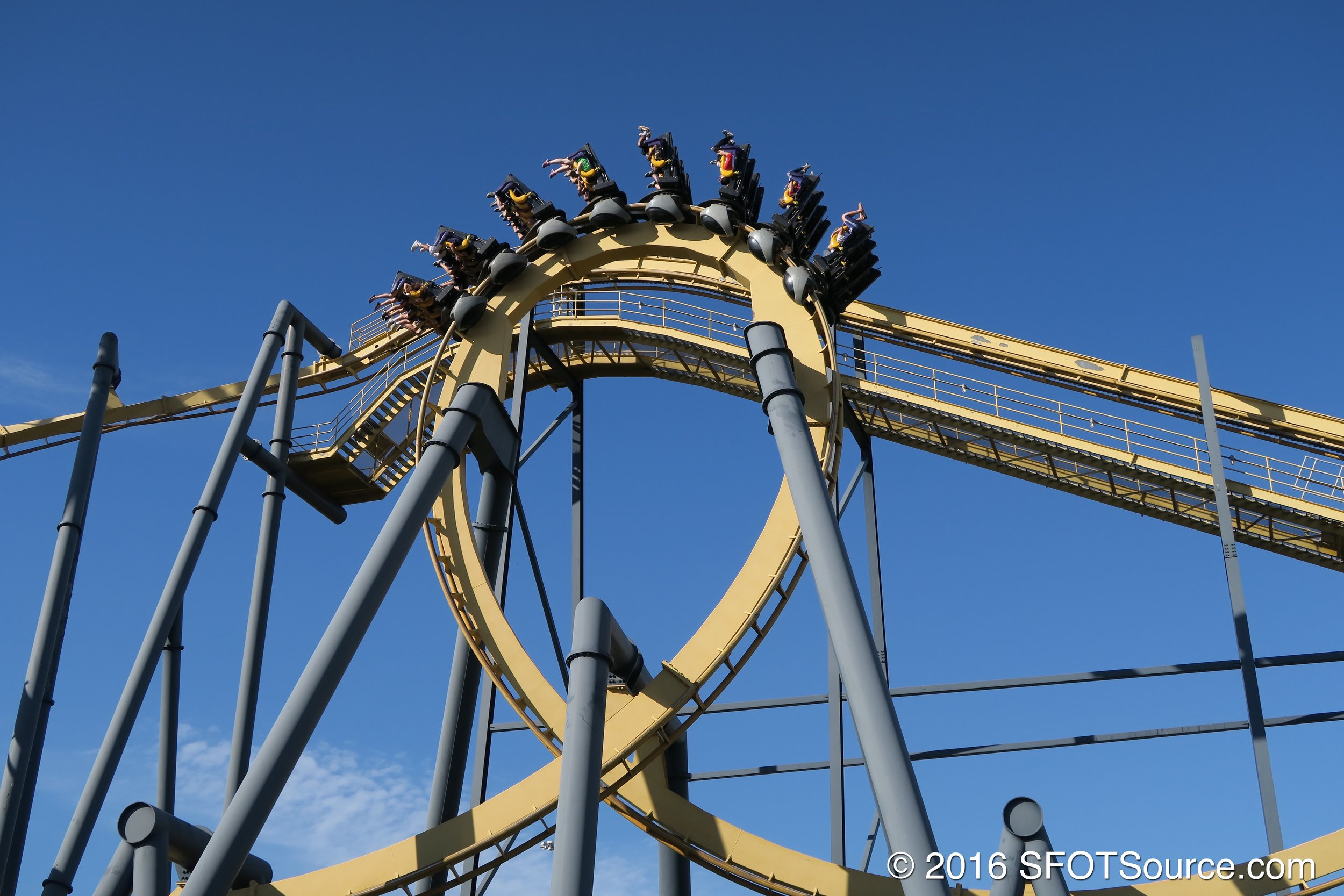 The ride's first inversion.