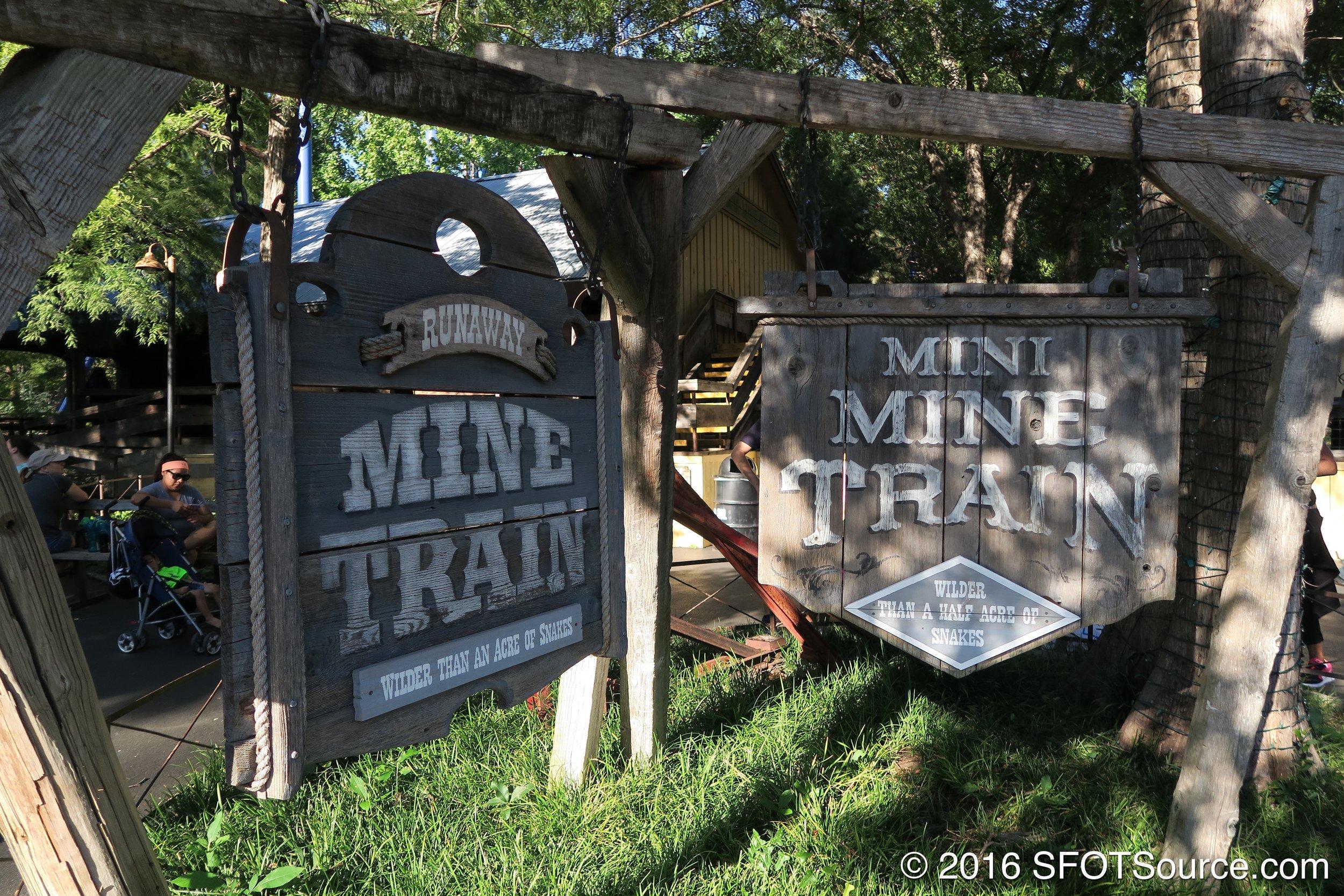 Mini Mine Train can be found right next to Runaway Mine Train.