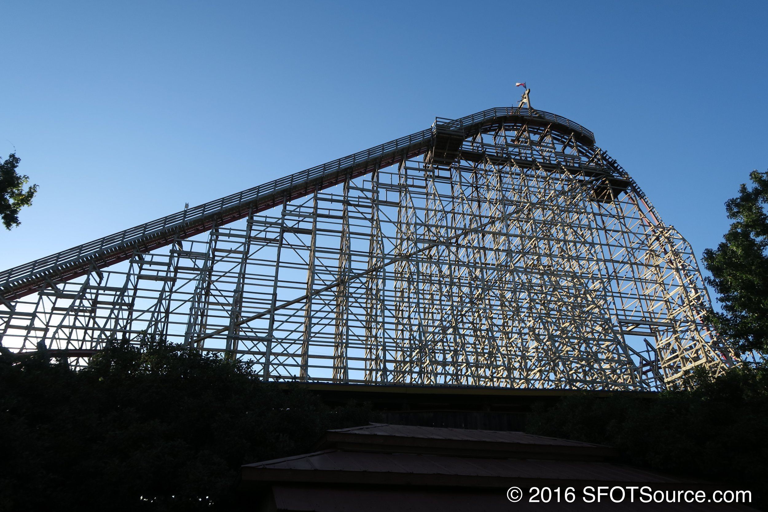 New Texas Giant's lift hill.