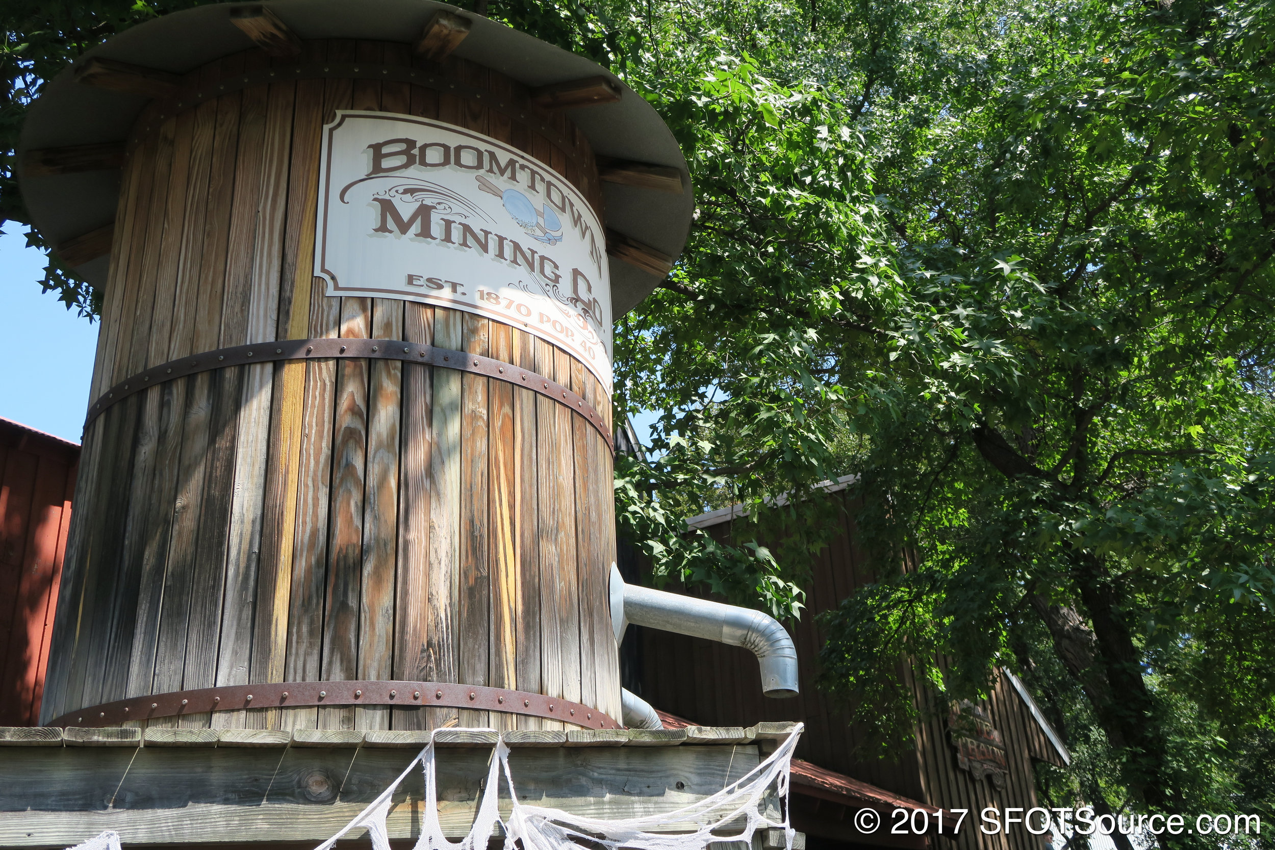 Part of the theming to Runaway Mine Train.