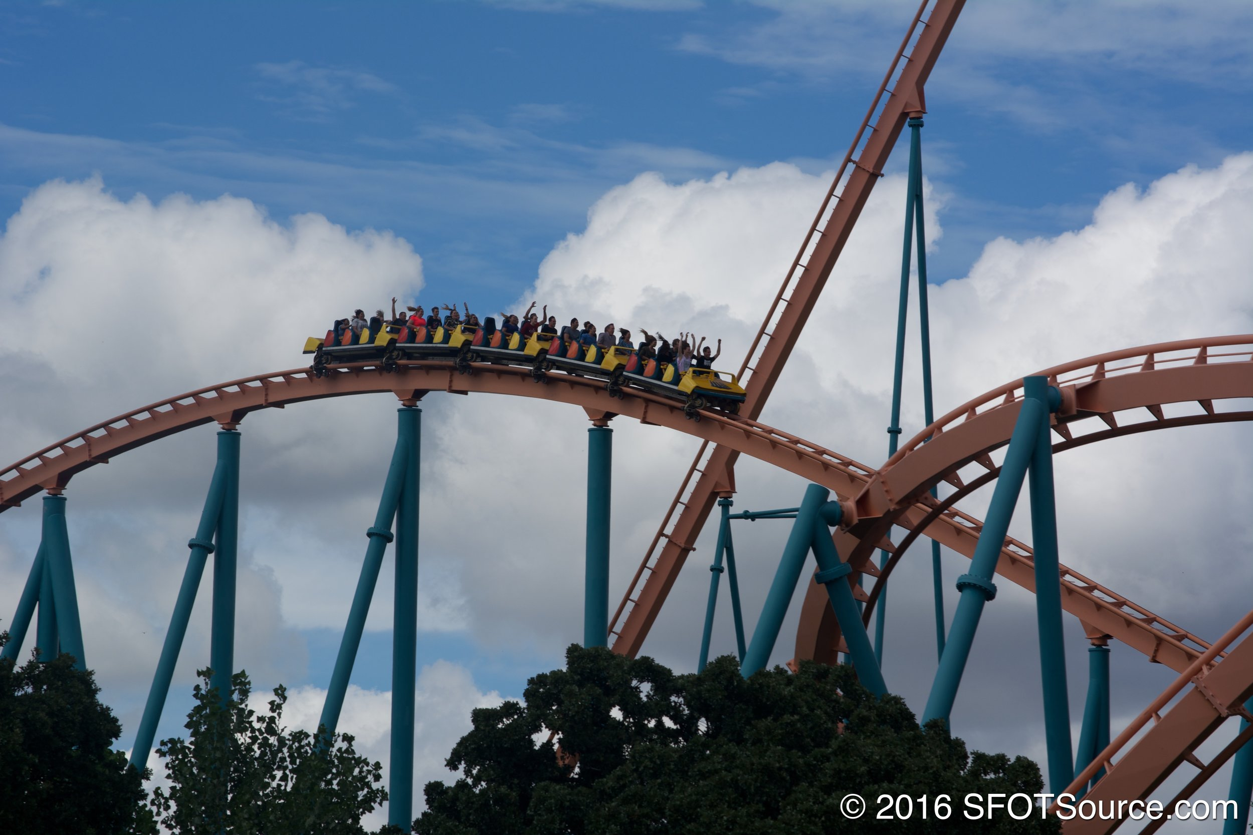 Titan's third hill with a good dose of airtime.