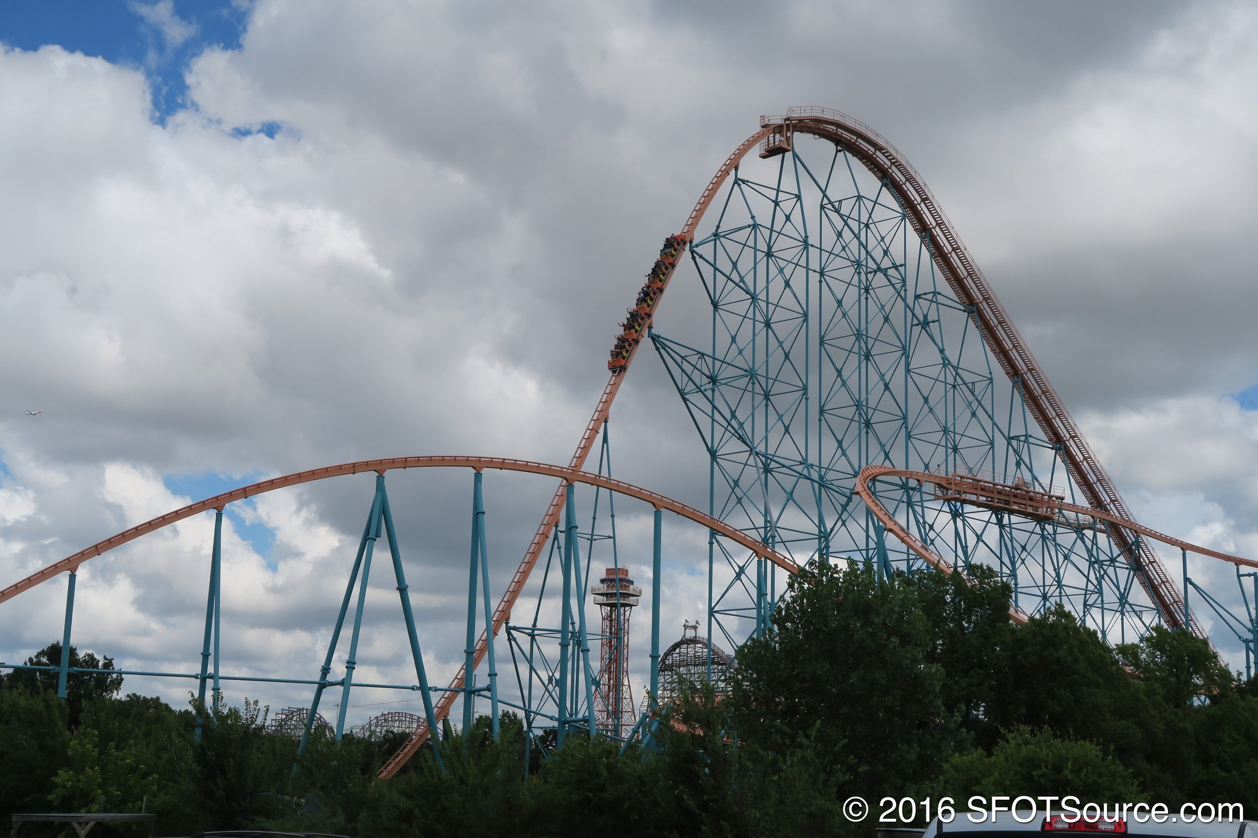 Titan is the tallest coaster in Texas.