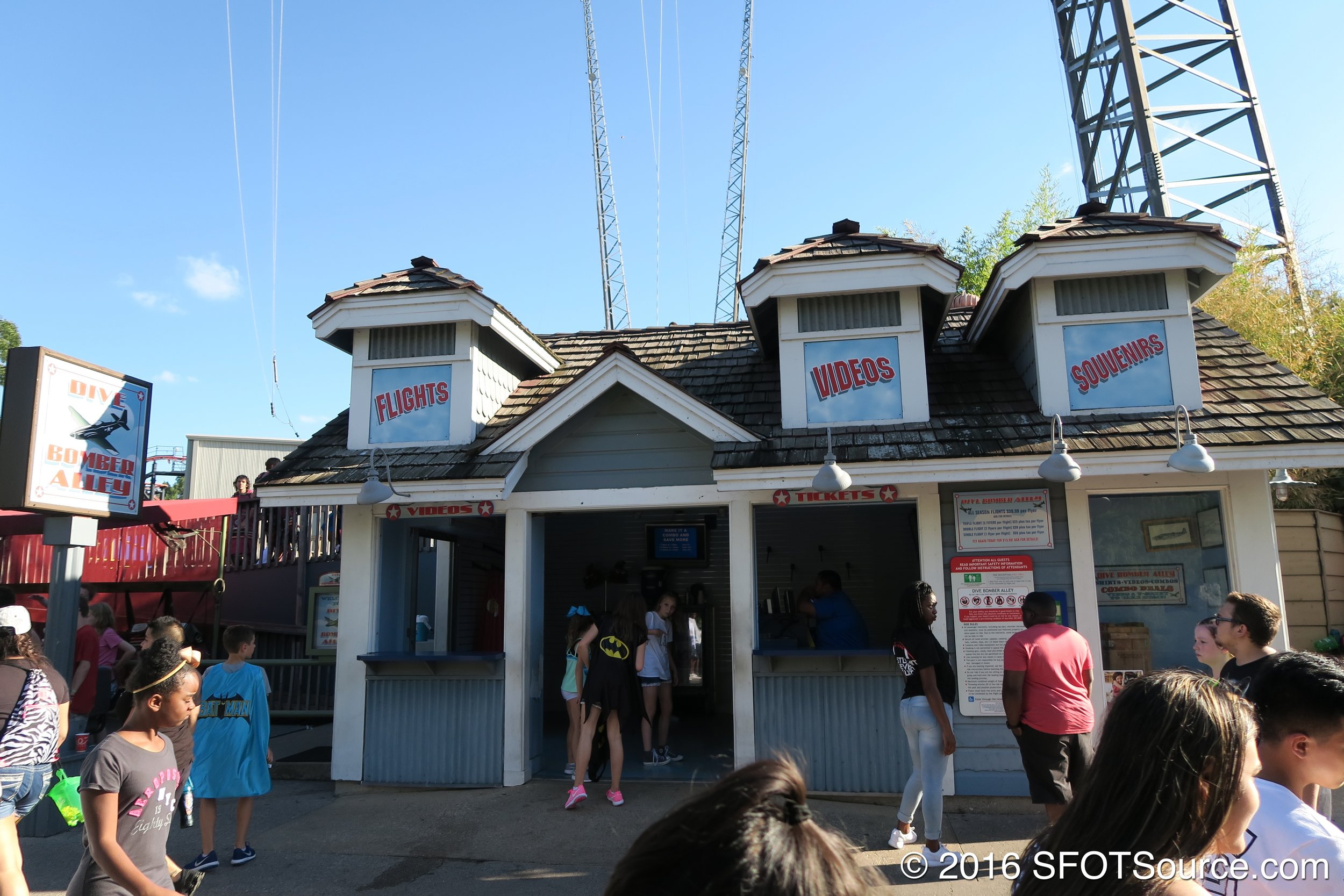 The main entrance to Dive Bomber Alley.