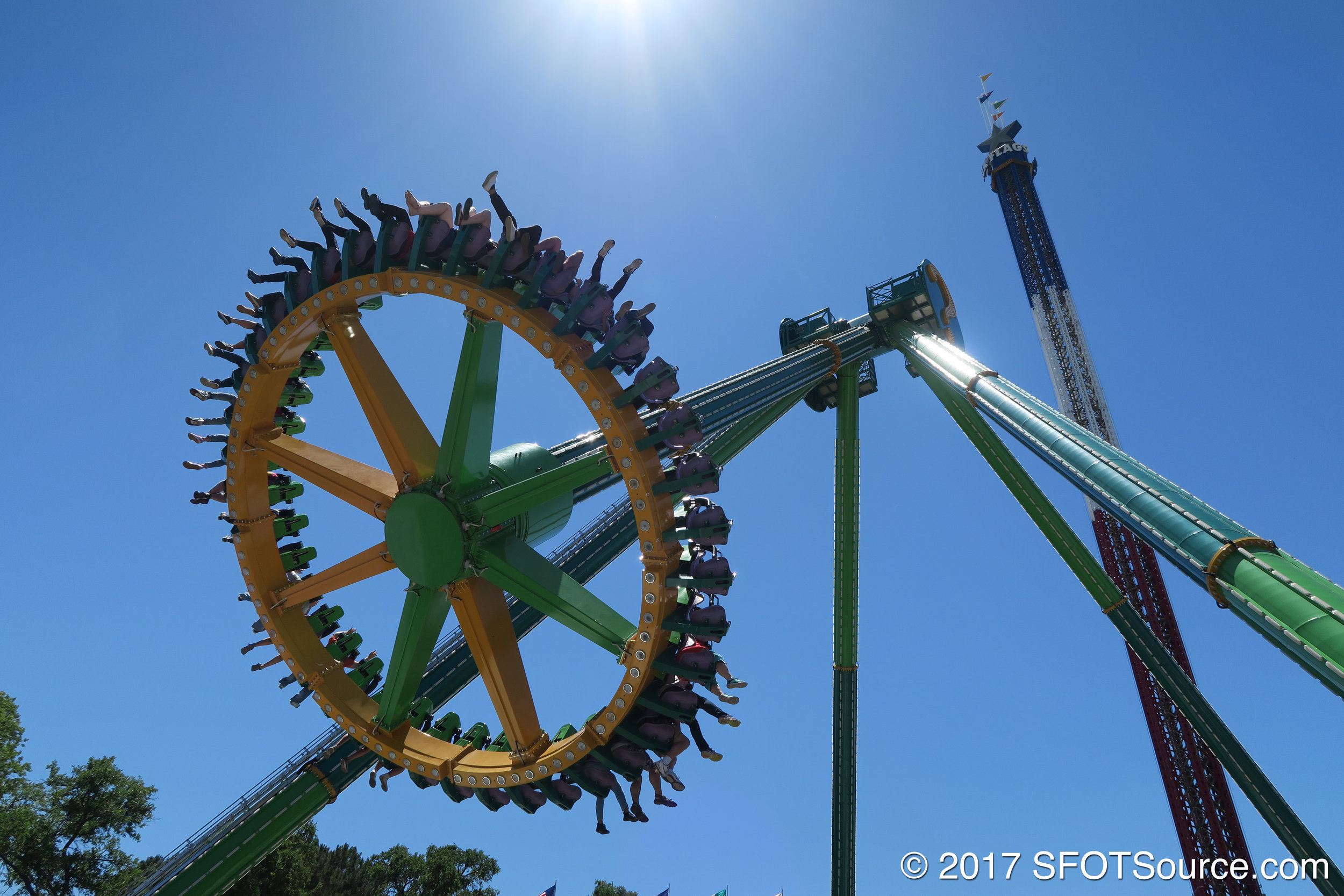 Riders face outward during the duration of the ride.