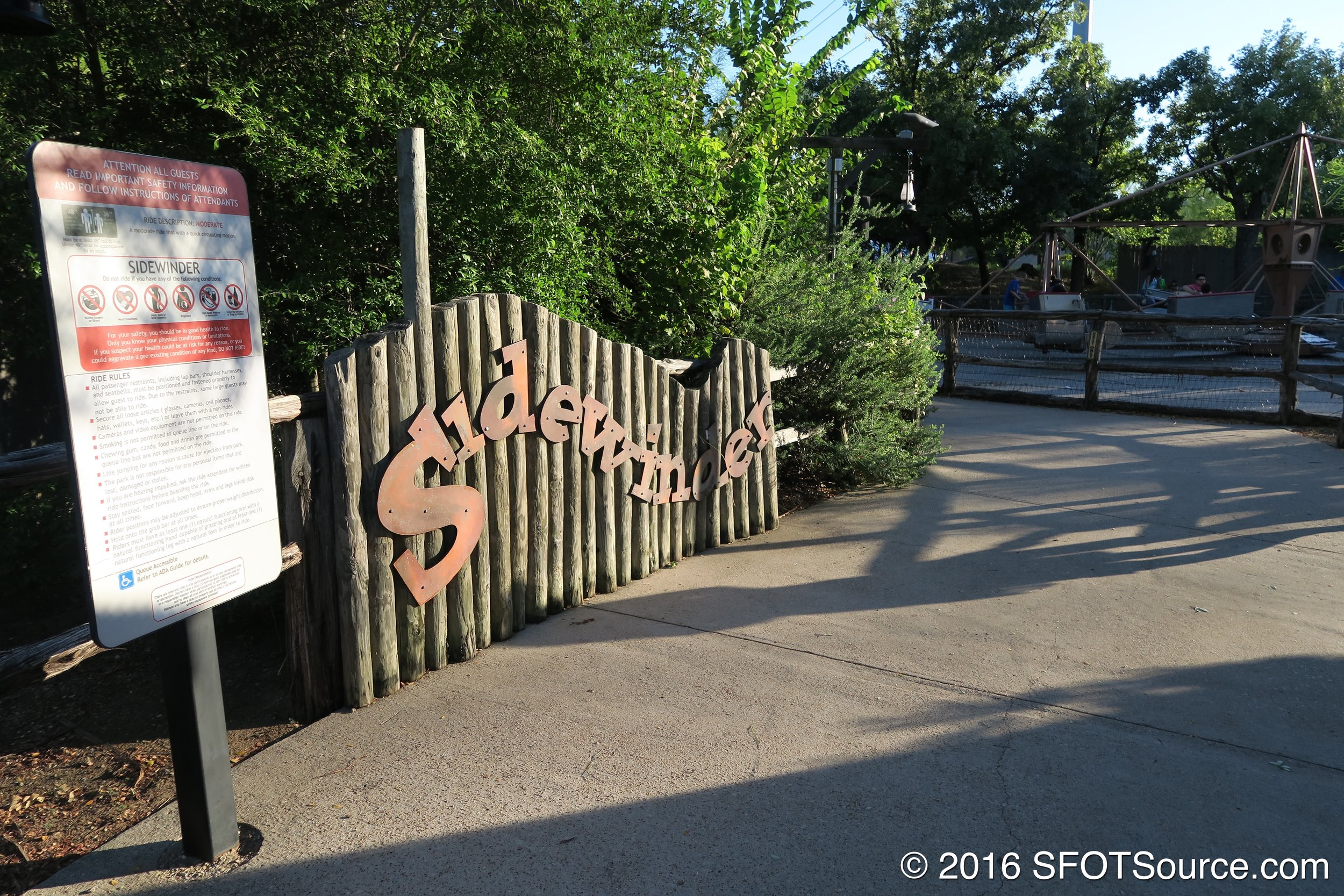 The main entrance to Sidewinder.