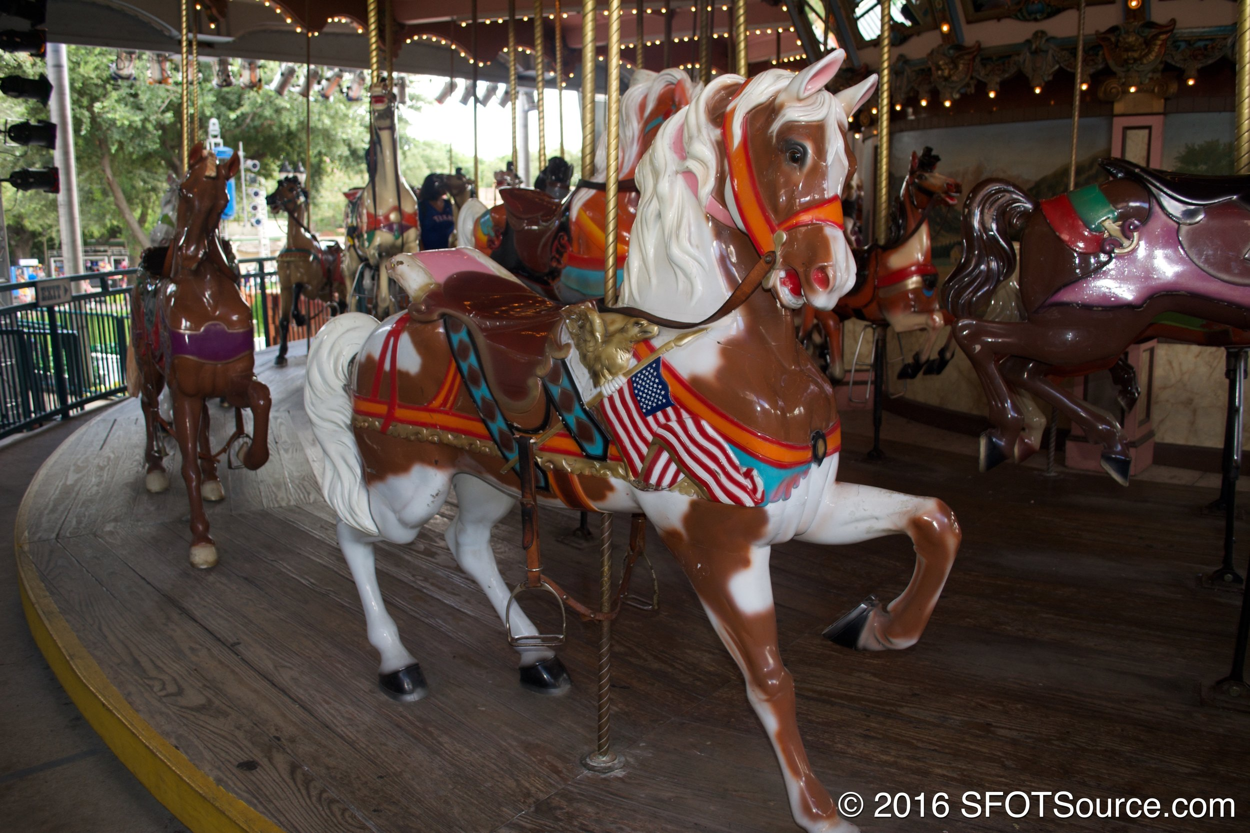 Silver Star Carousel is a classic carousel attraction.