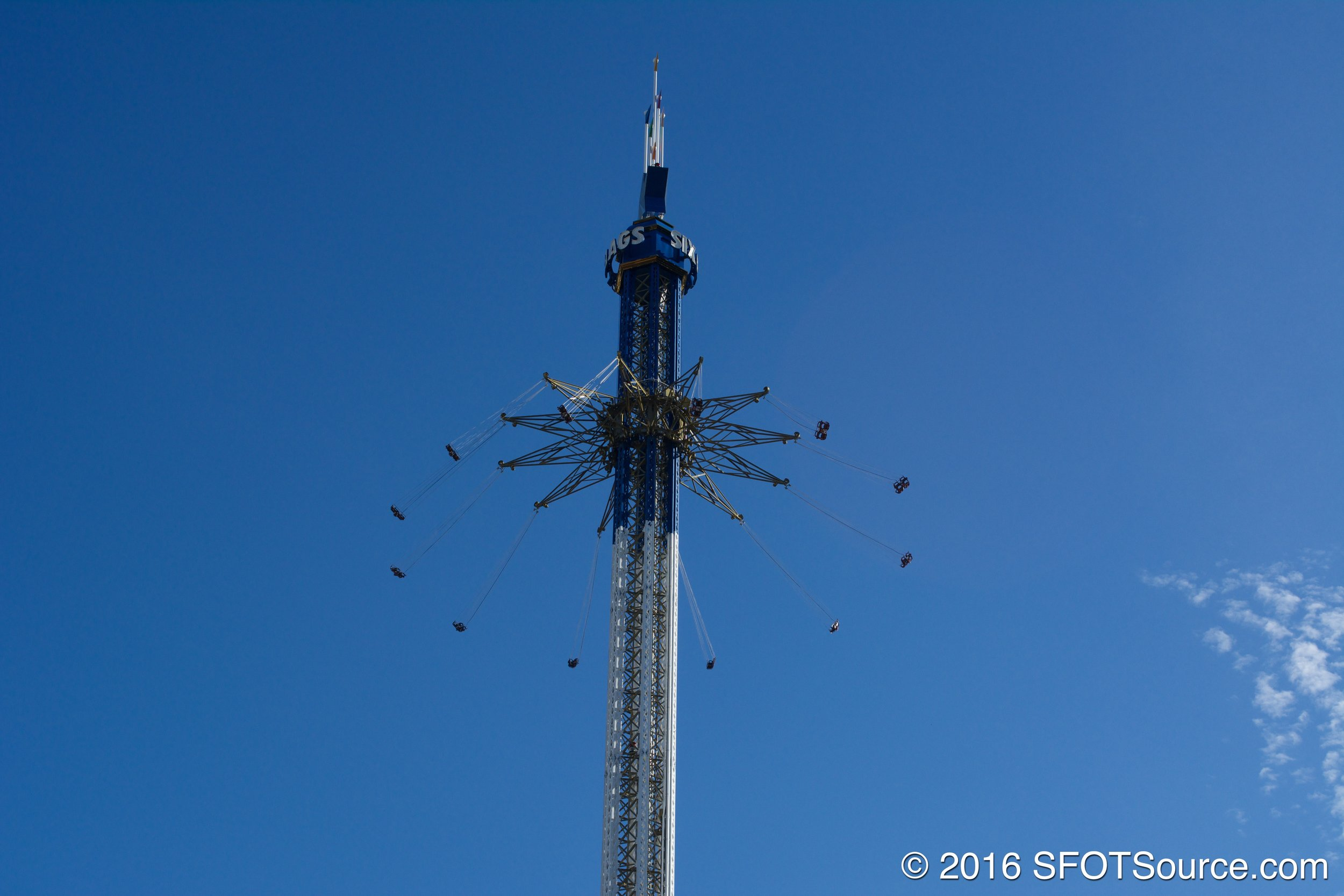 Texas SkyScreamer was added to the park in 2013.