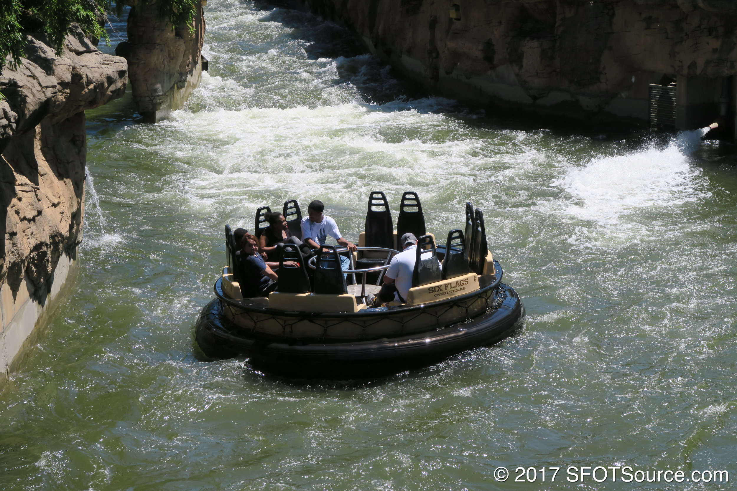 Guests are likely to be soaked on Roaring Rapids.