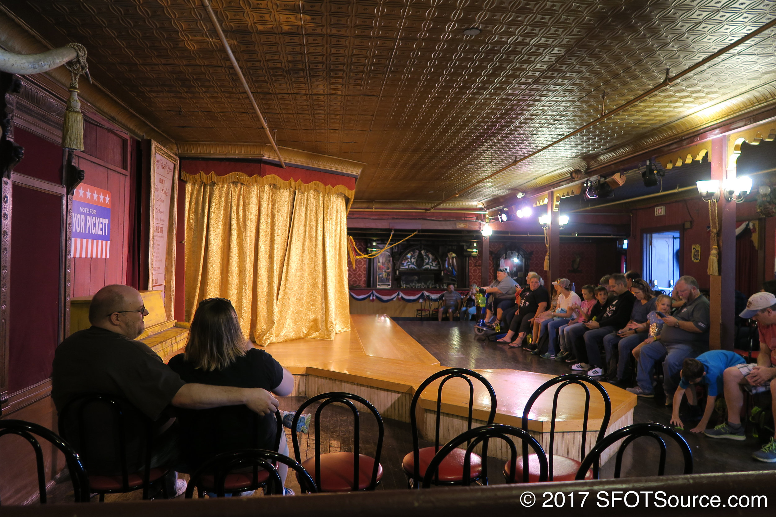 An interior look at Crazy Horse Saloon.