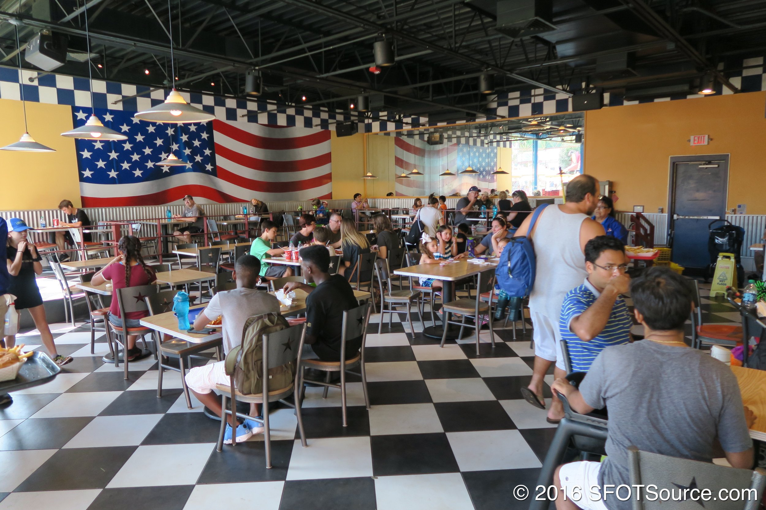 A look at All American Cafe's indoor seating area.