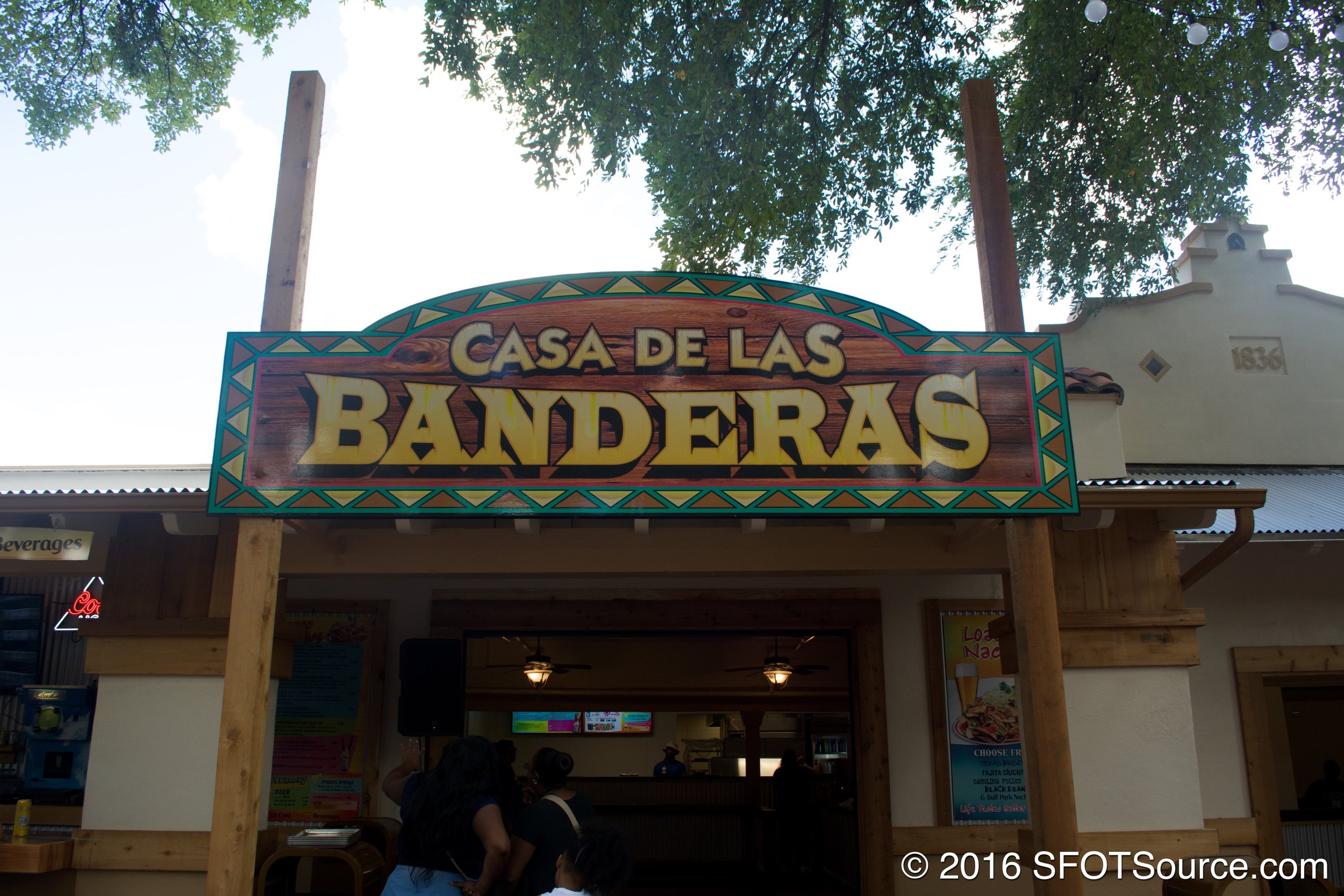 Casa de las Banderas is located in the park's Mexico section.