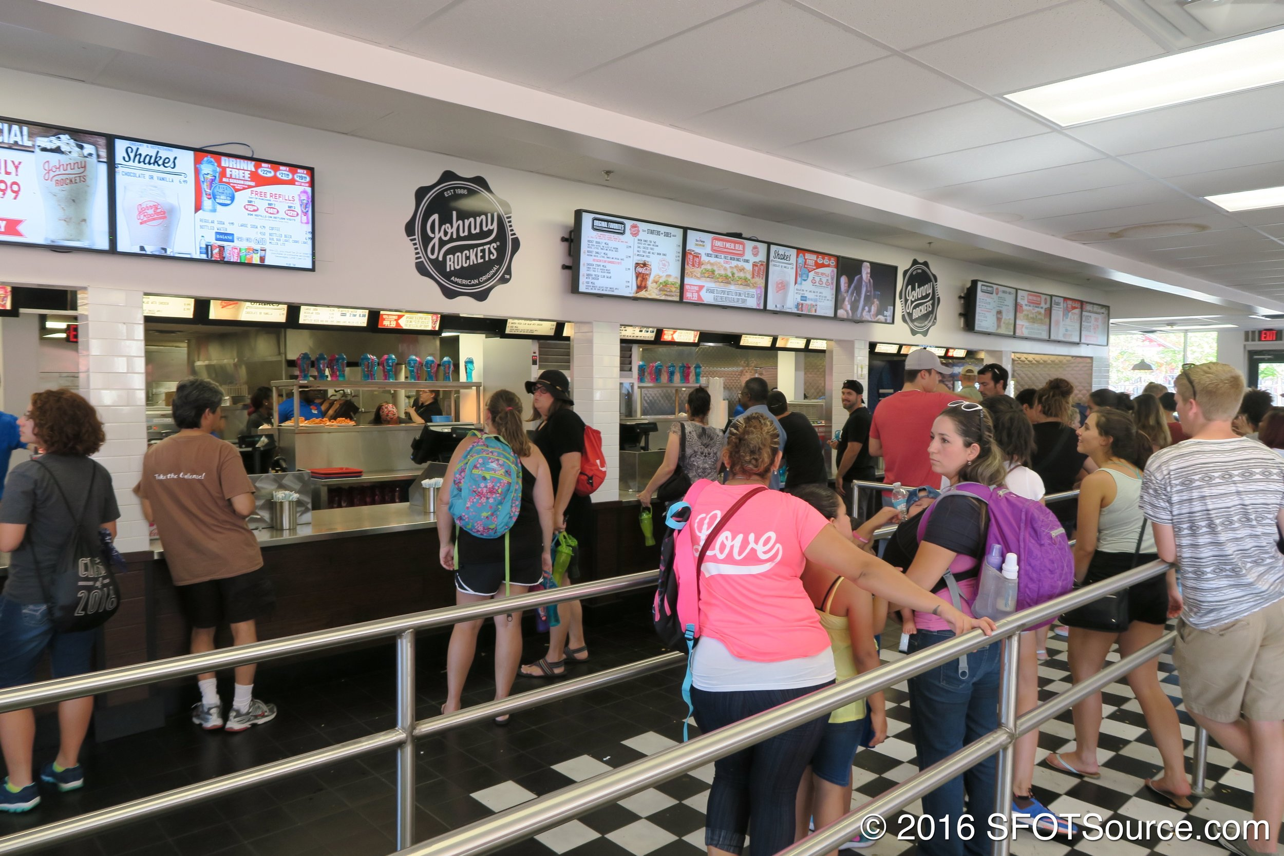 Guests order and purchase food at this counter.