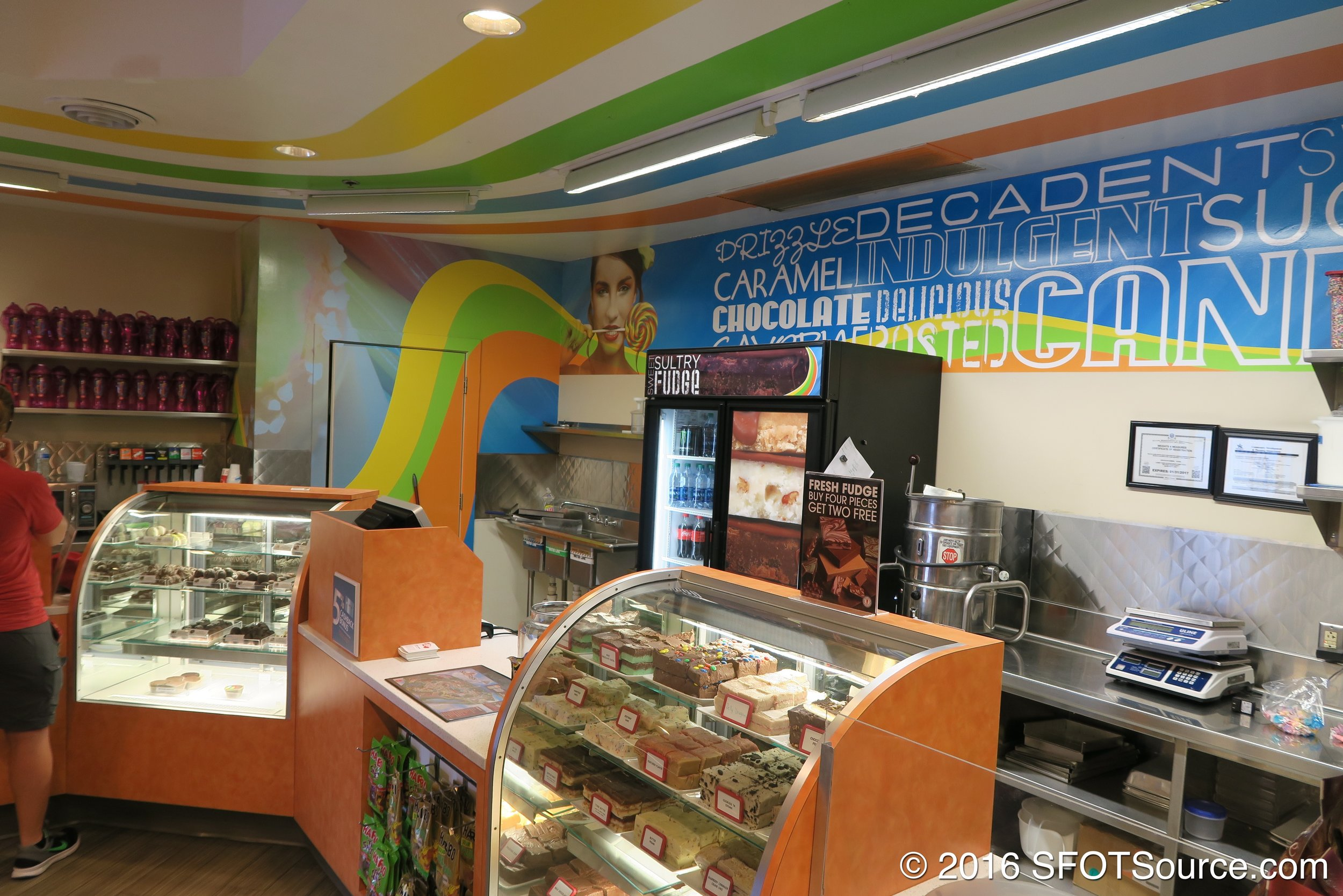 Looney Candy is located inside Looney Tunes Mall.