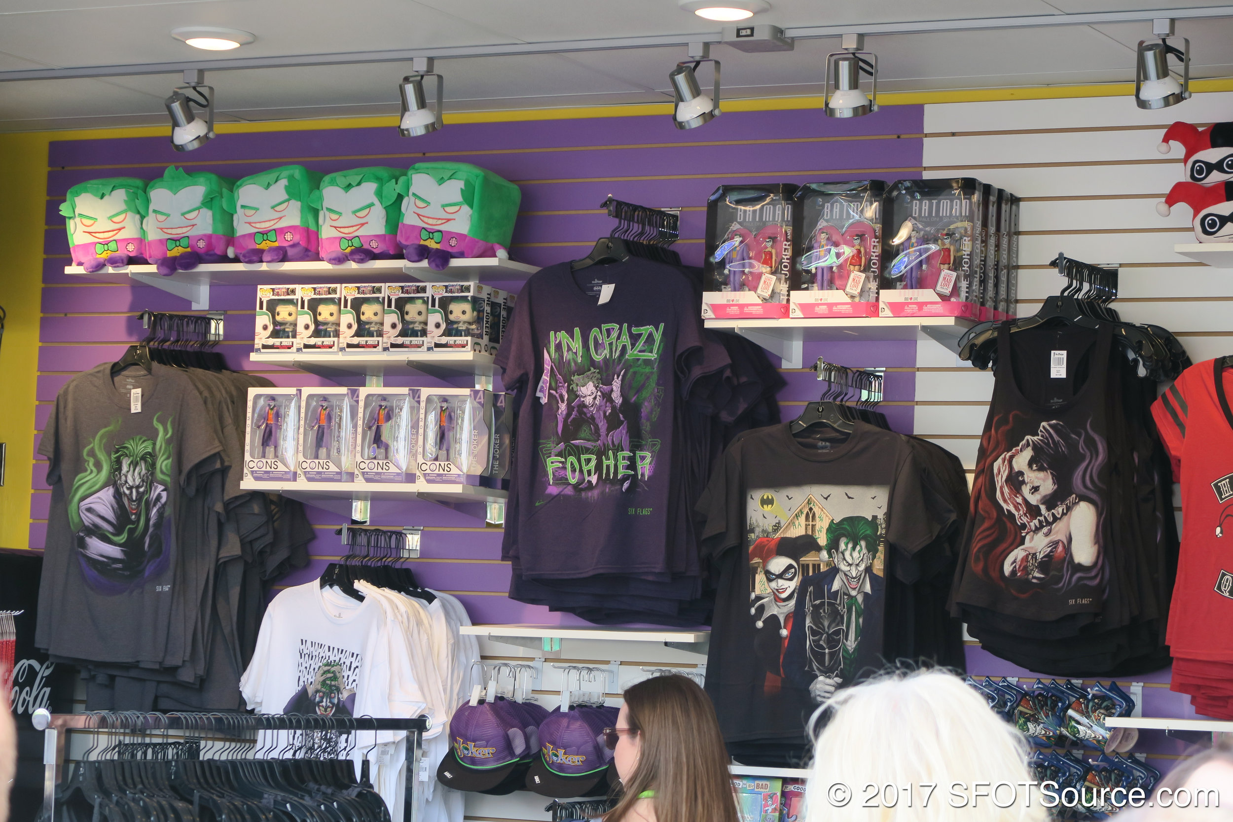 The shop is located in Gotham City at the exit of The Joker.