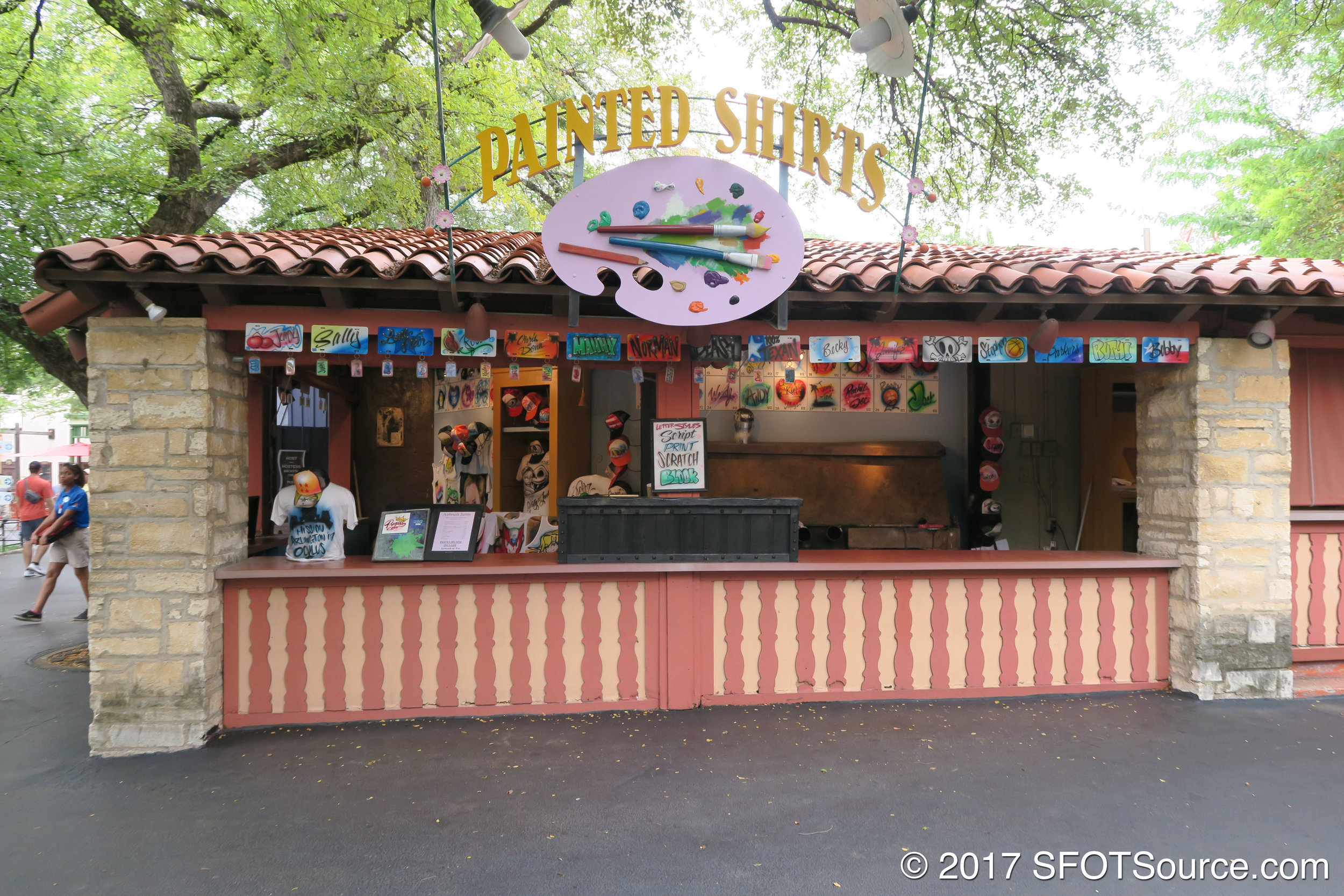An outdoor shop located in the park's Mexico section.