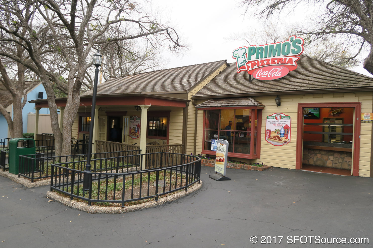 Primo's Pizzeria is located in the park's Old South section.
